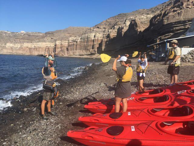 Getting ready to paddle- but safety comes first!