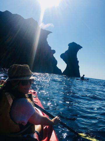 That's me, paddling away :)