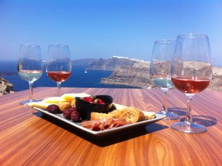 Wine Tasting at Venetsanos Winery has style, great wines, even greater views. Do you need more?