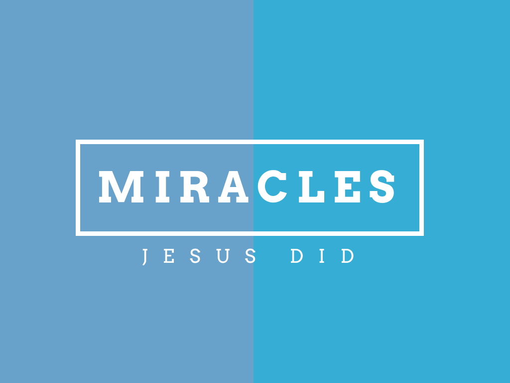 A study on the supernatural elements of Jesus' ministry and what they mean for us today.