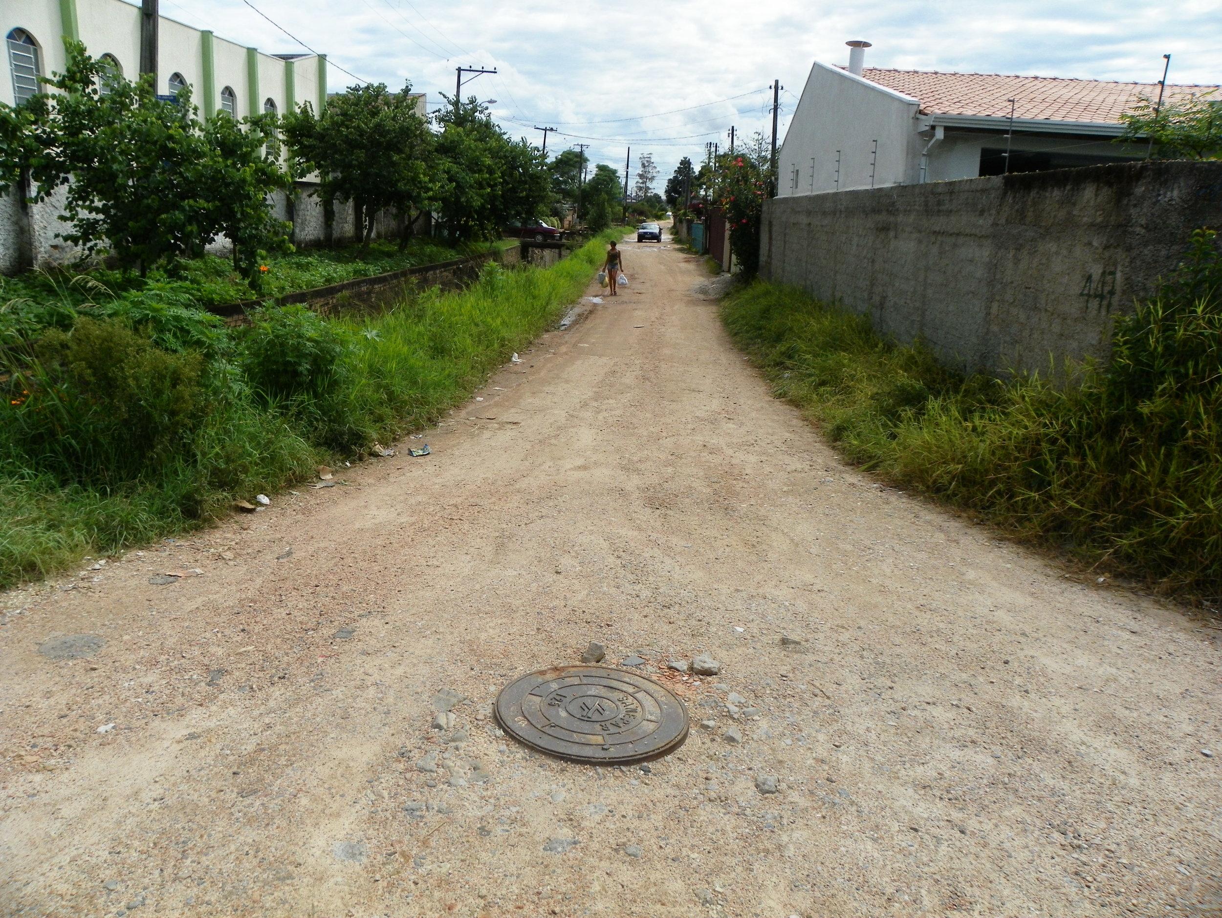 Pavimentação da Rua Dr. João Luiz Bettega - ANTES