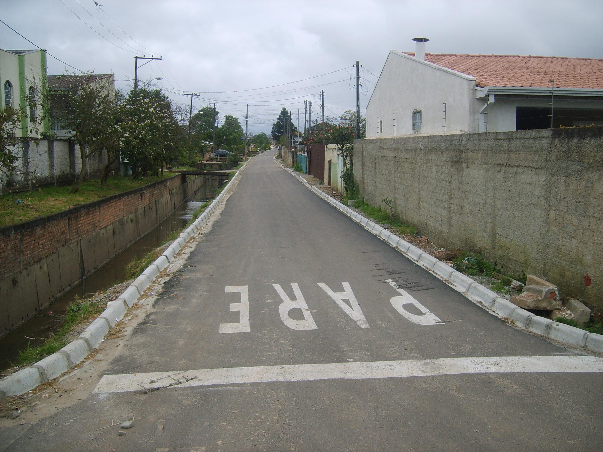 Pavimentação da Rua Dr. João Luiz Bettega - DEPOIS