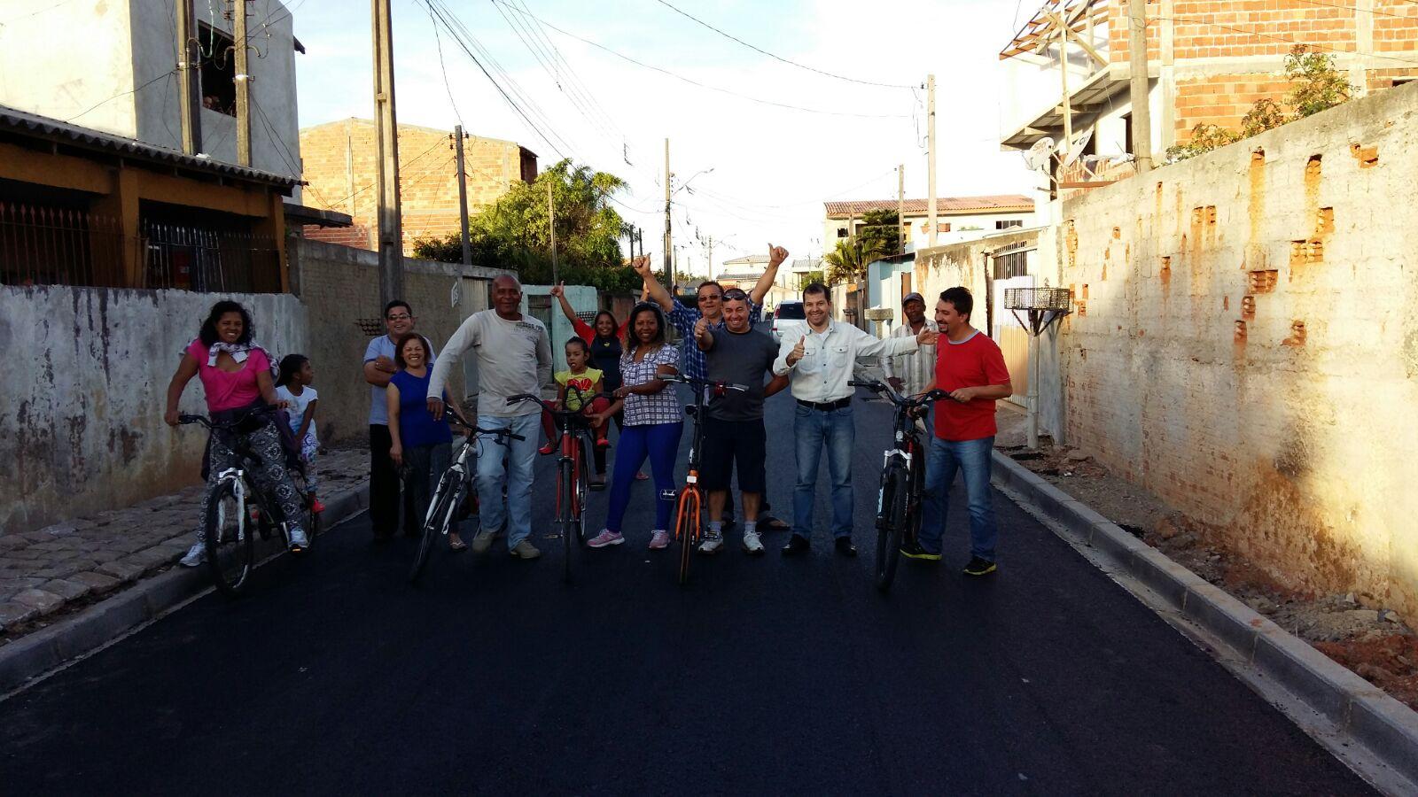 Pavimentação na Rua Josefina Simões Alves - DEPOIS