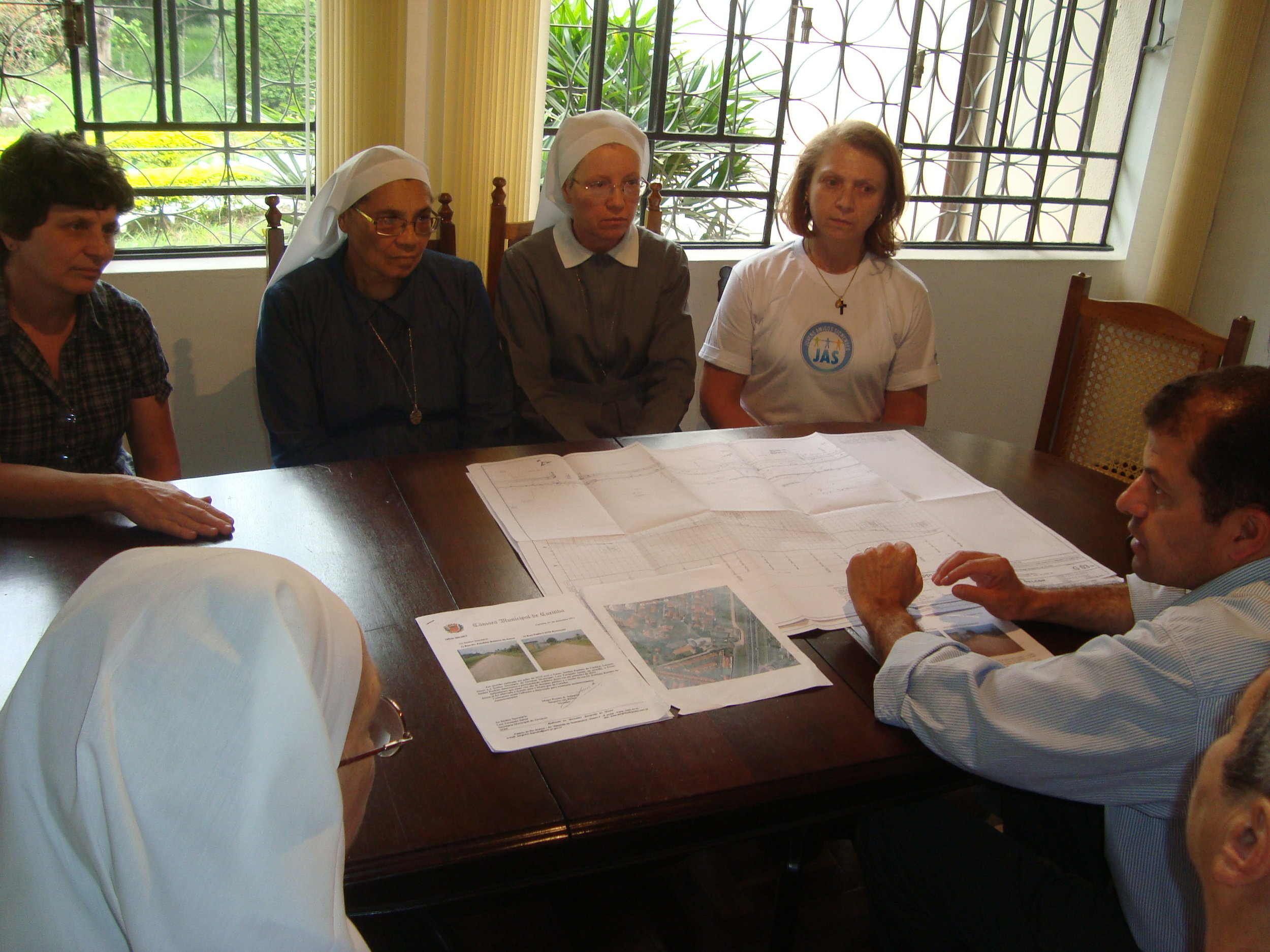 Reunião com as irmãs do Convento e Colégio Sion
