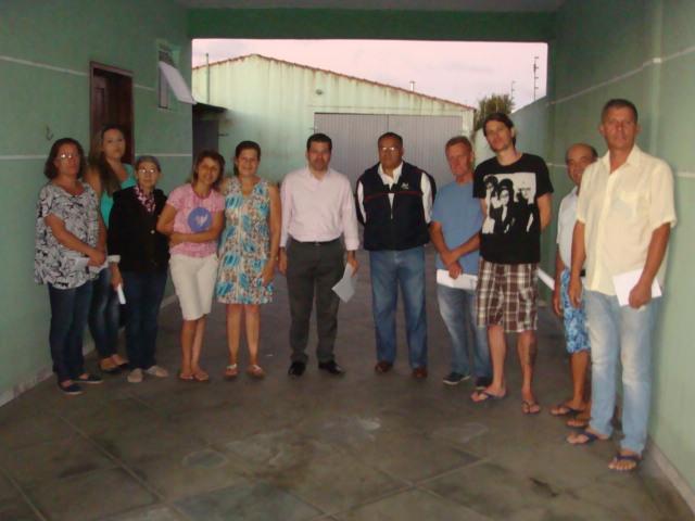 Reunião com moradores sobre as melhorias na vala de drenagem da Marginal da BR 277