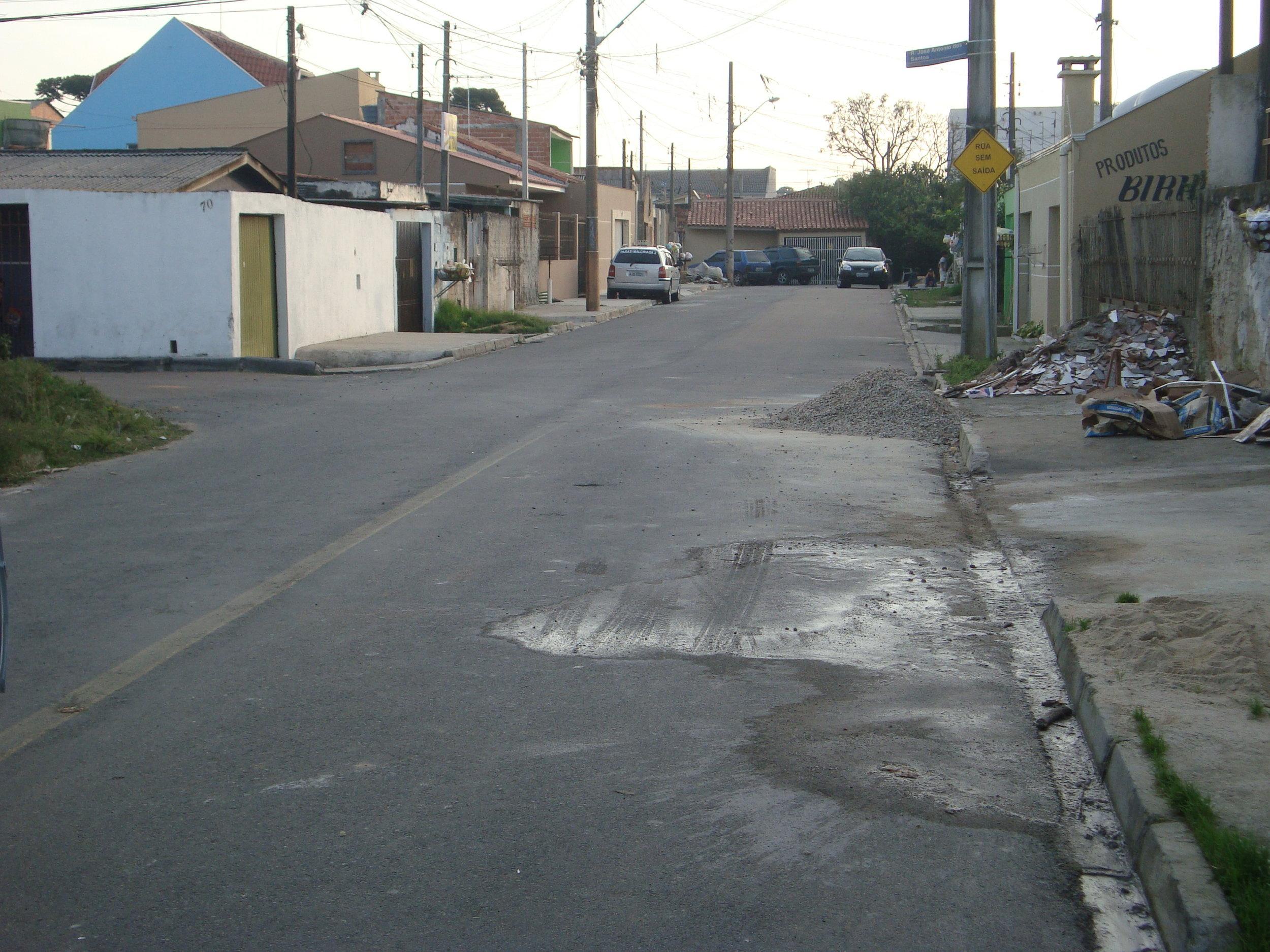 Pavimentação na Rua Antônio de Oliveira - DEPOIS