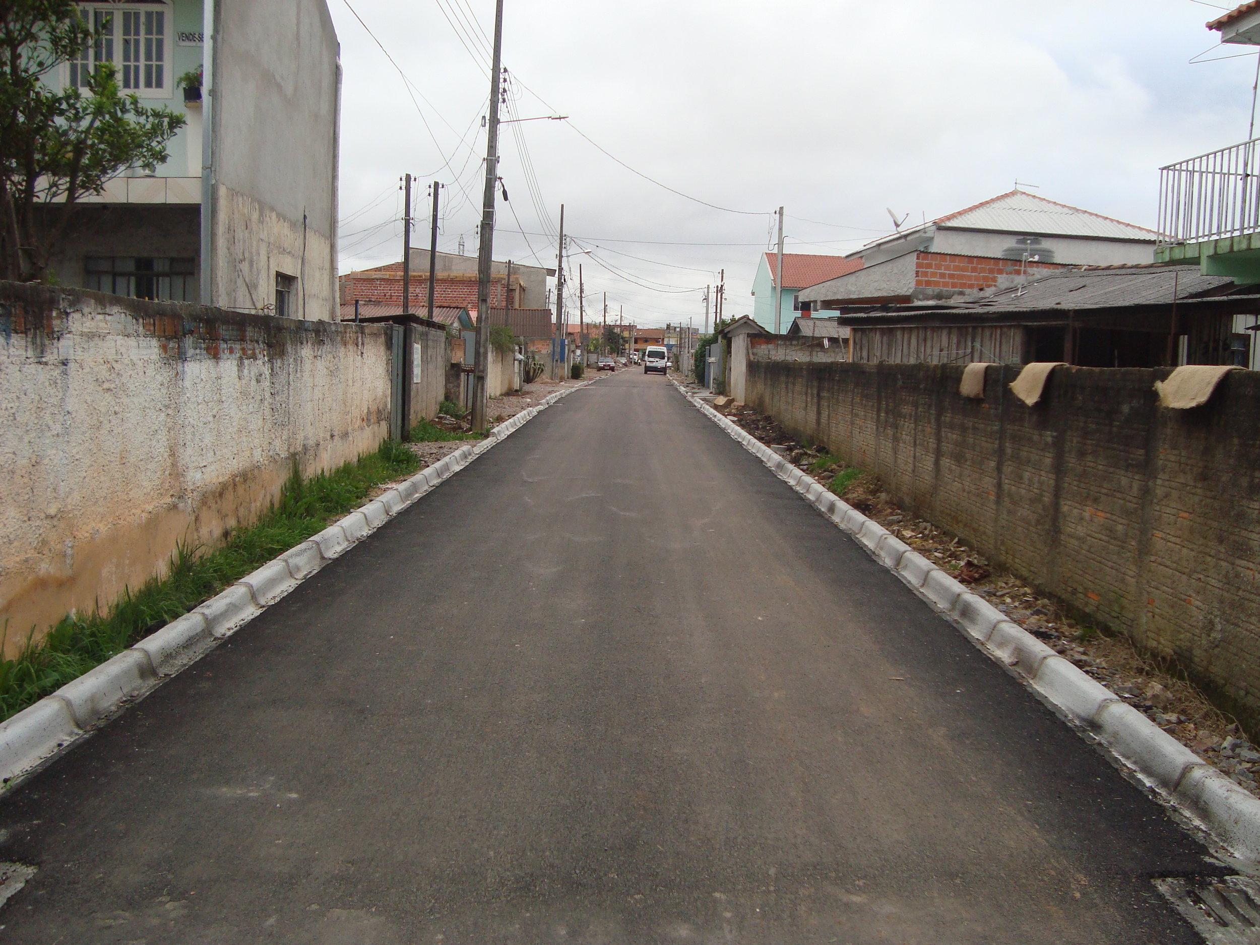 Pavimentação na Rua Ennio Puccini - DEPOIS