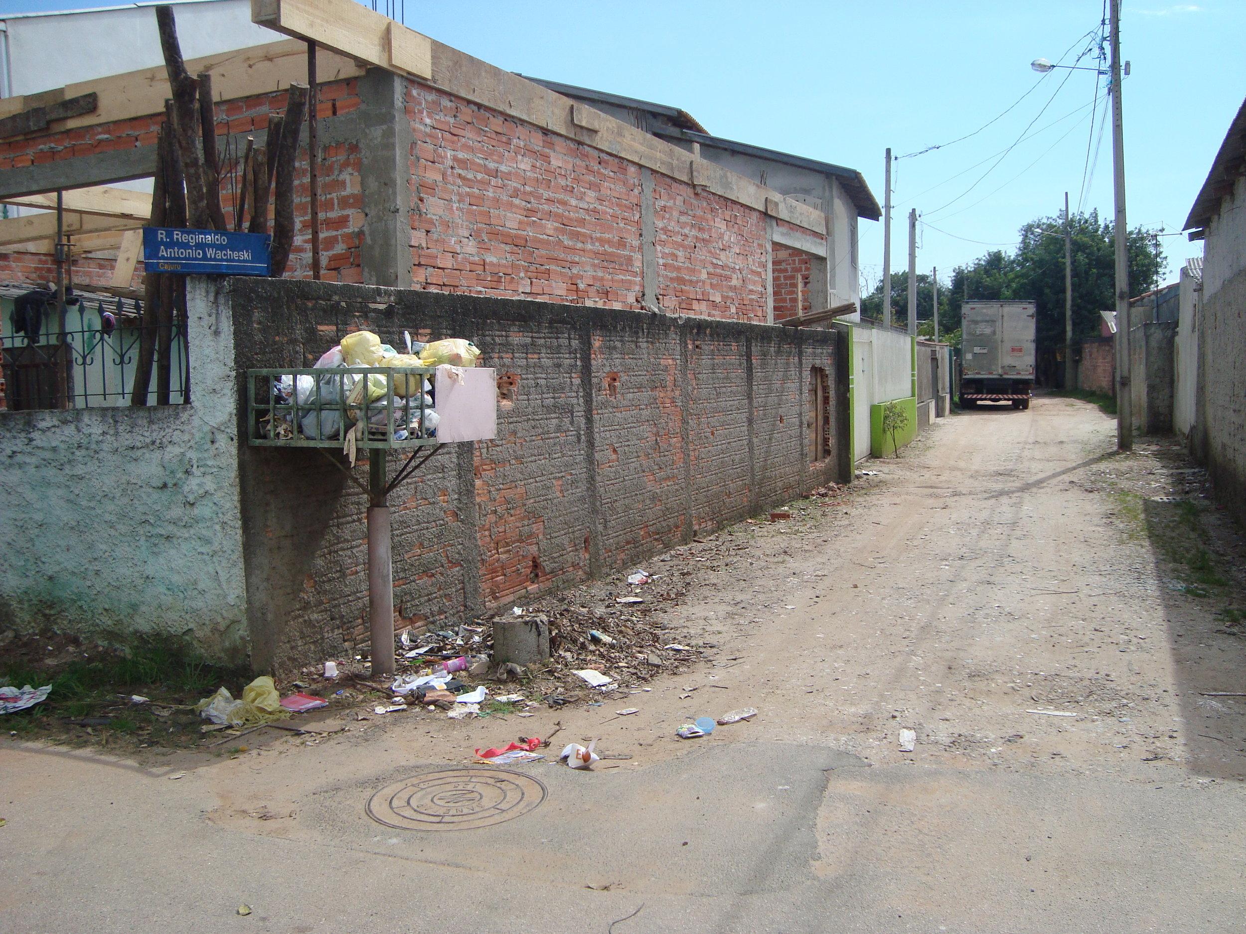 Pavimentação na Rua Fábio Ramos - ANTES
