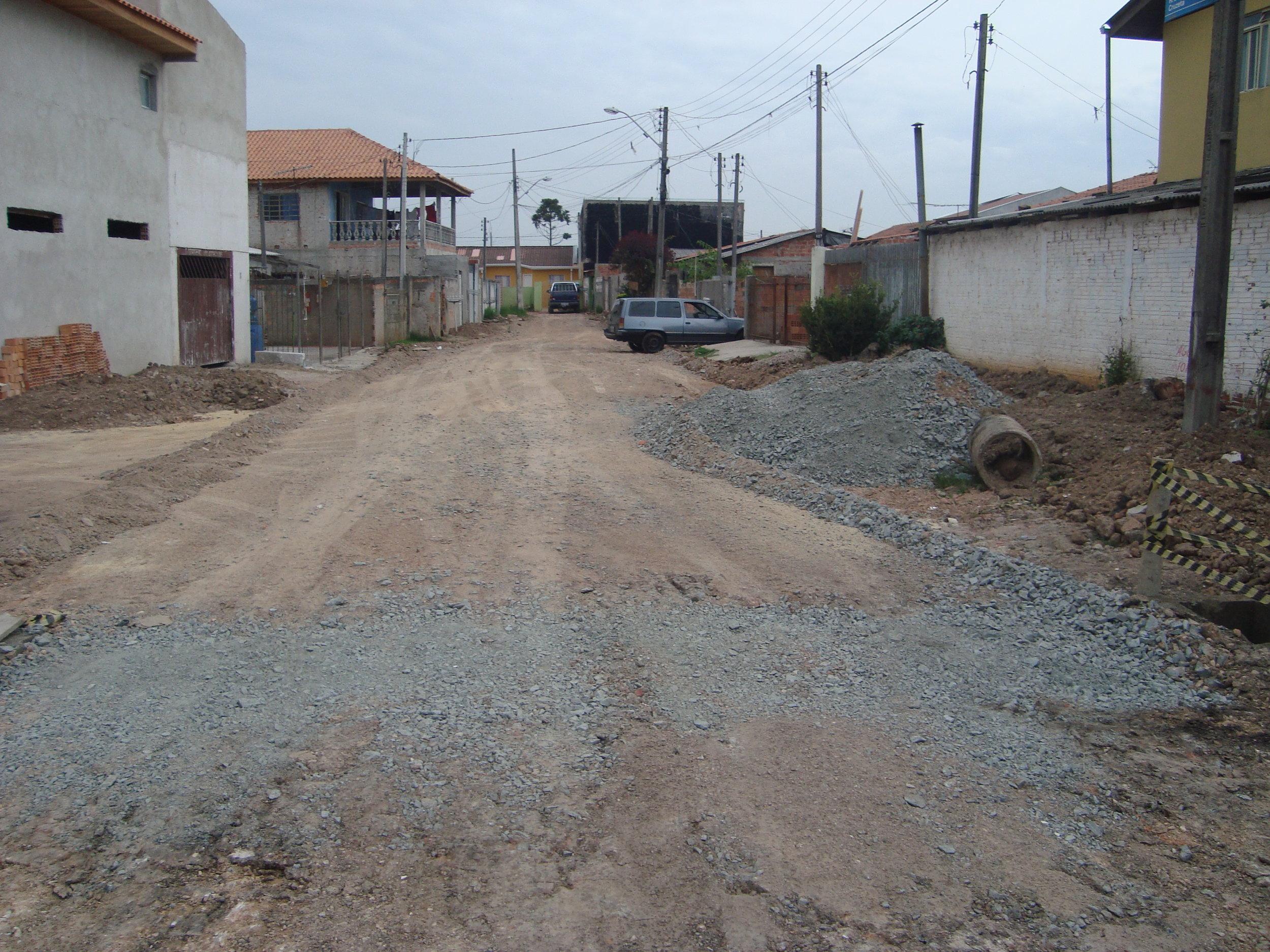 Pavimentação na Rua Jorge Virgílio Cruzetta - ANTES