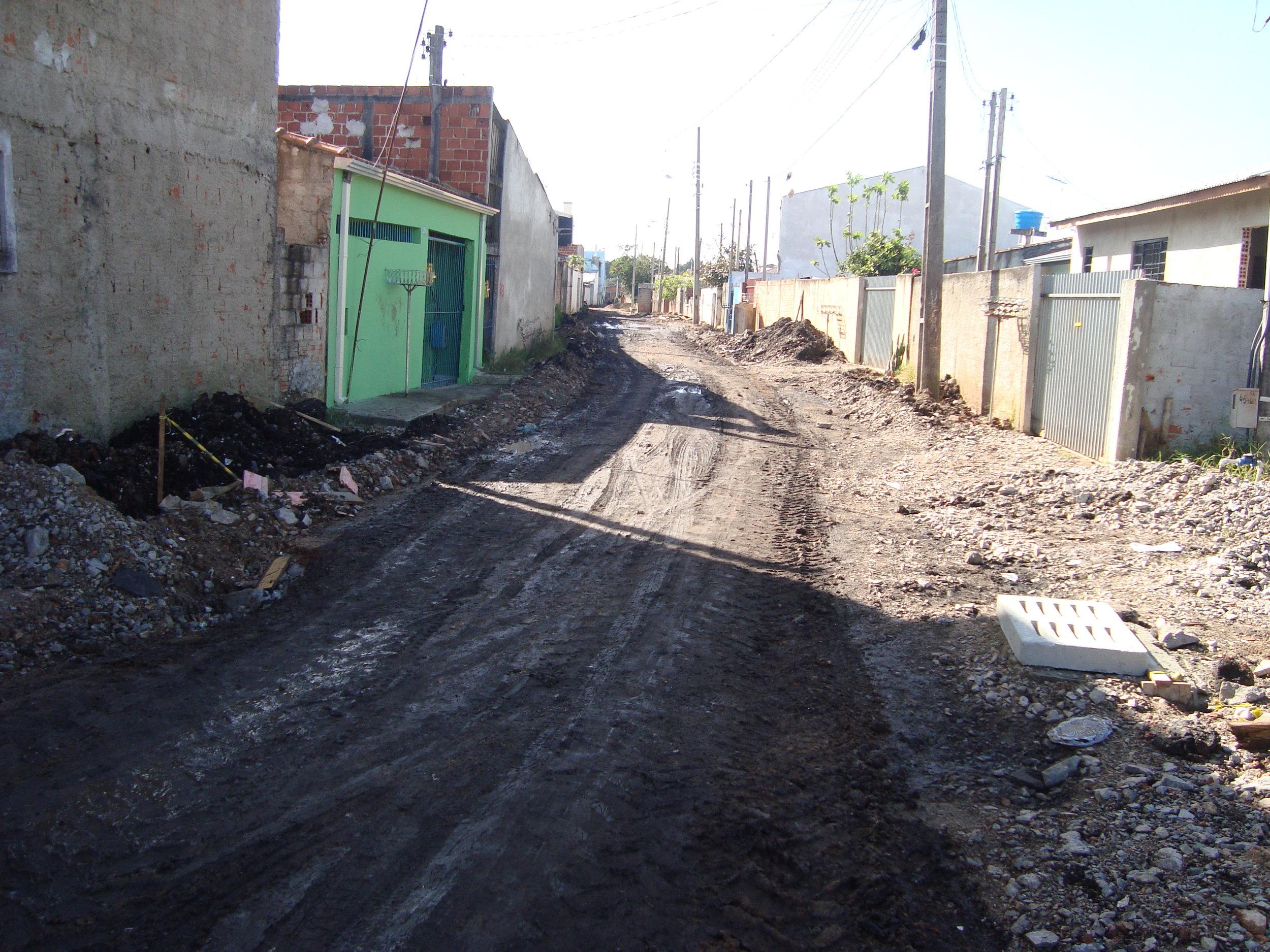 Pavimentação na Rua José Manoel da Costa Leite - ANTES