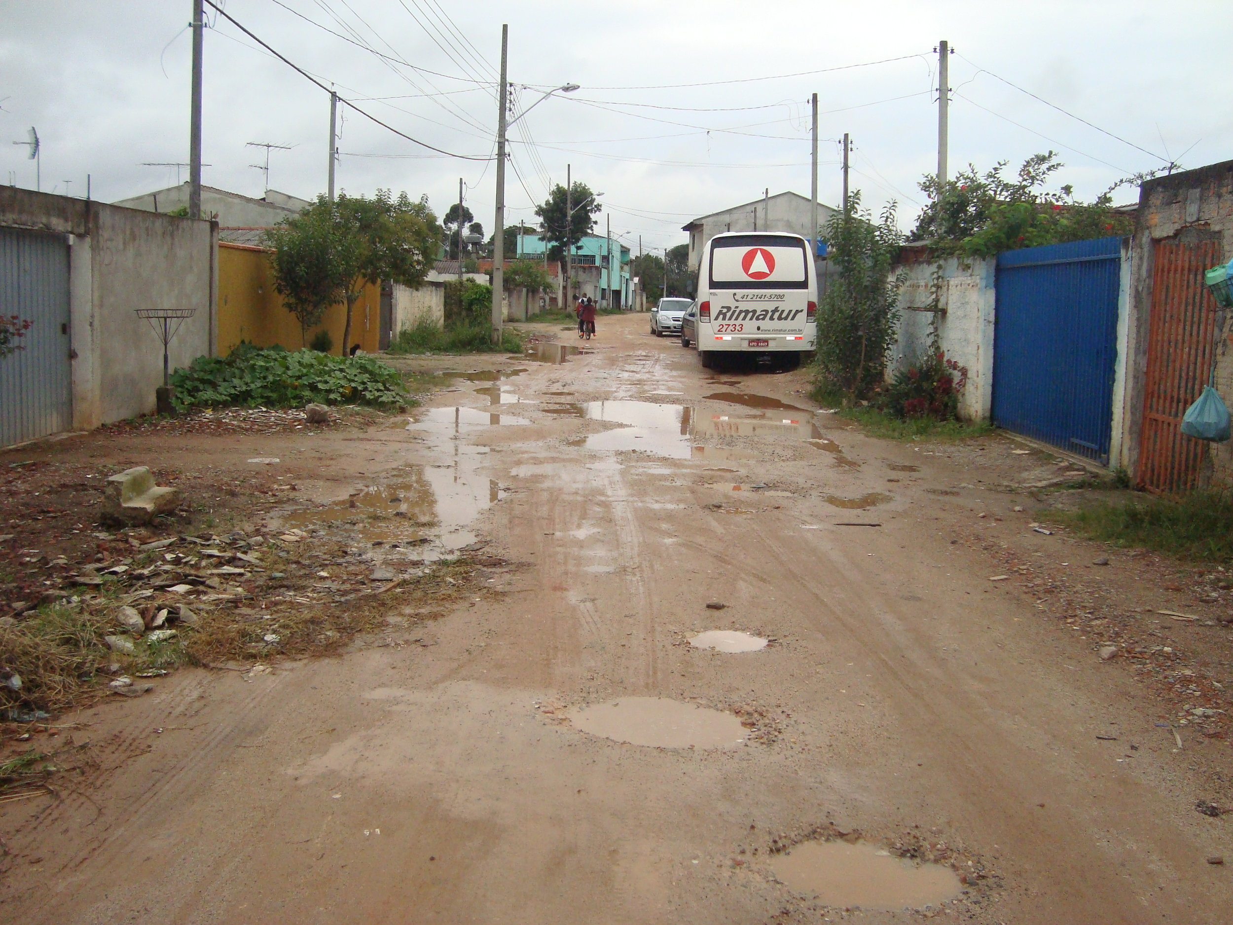 Pavimentação na Rua Pedro Bacellar - ANTES
