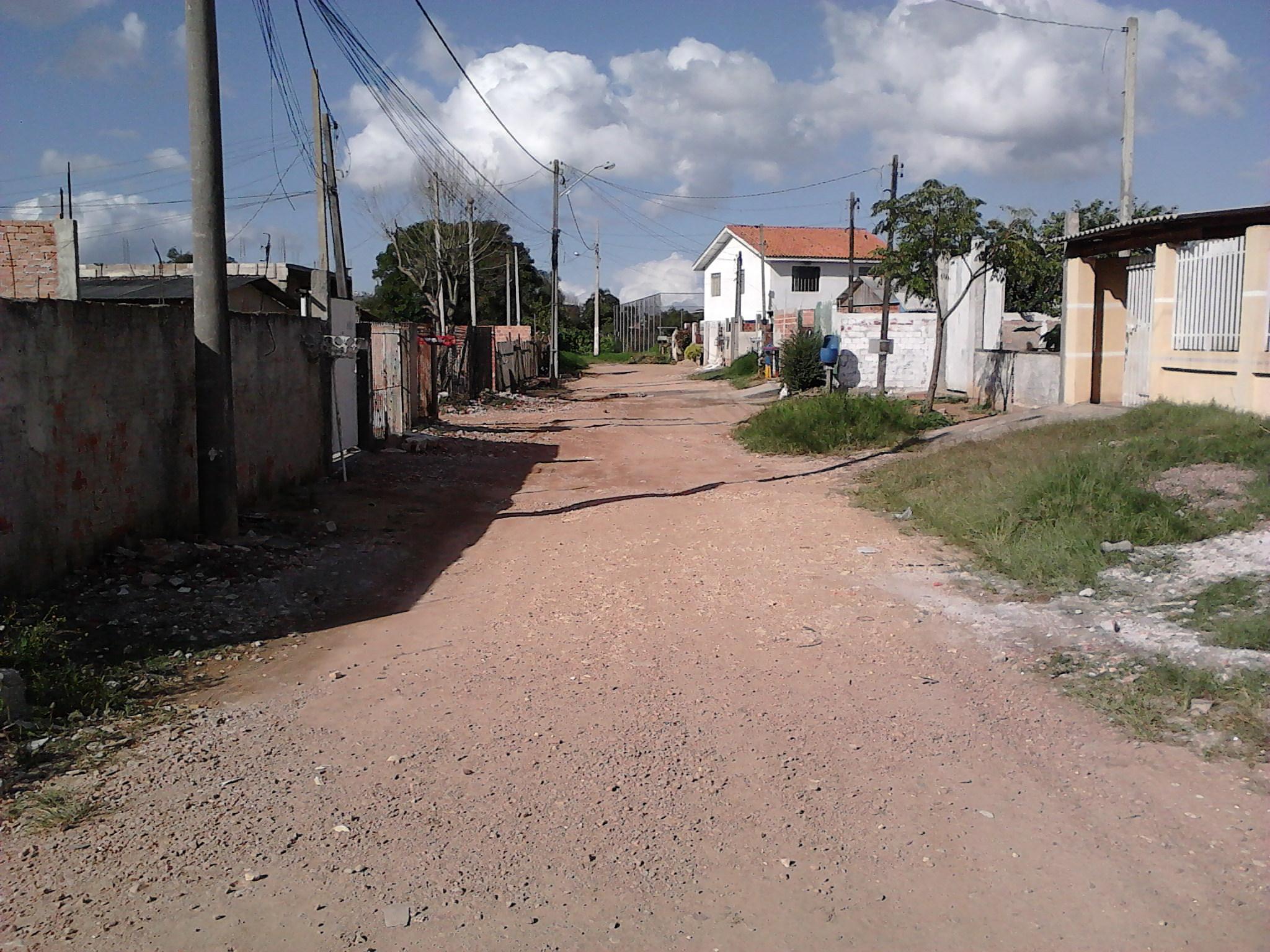 Pavimentação na Rua Darci Jungles - ANTES