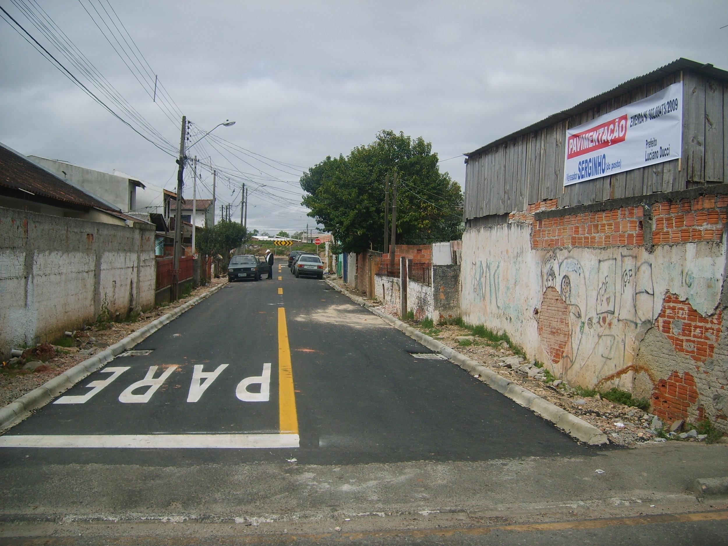 Pavimentação na Rua Jorn. Walfrido R. de Camargo - DEPOIS