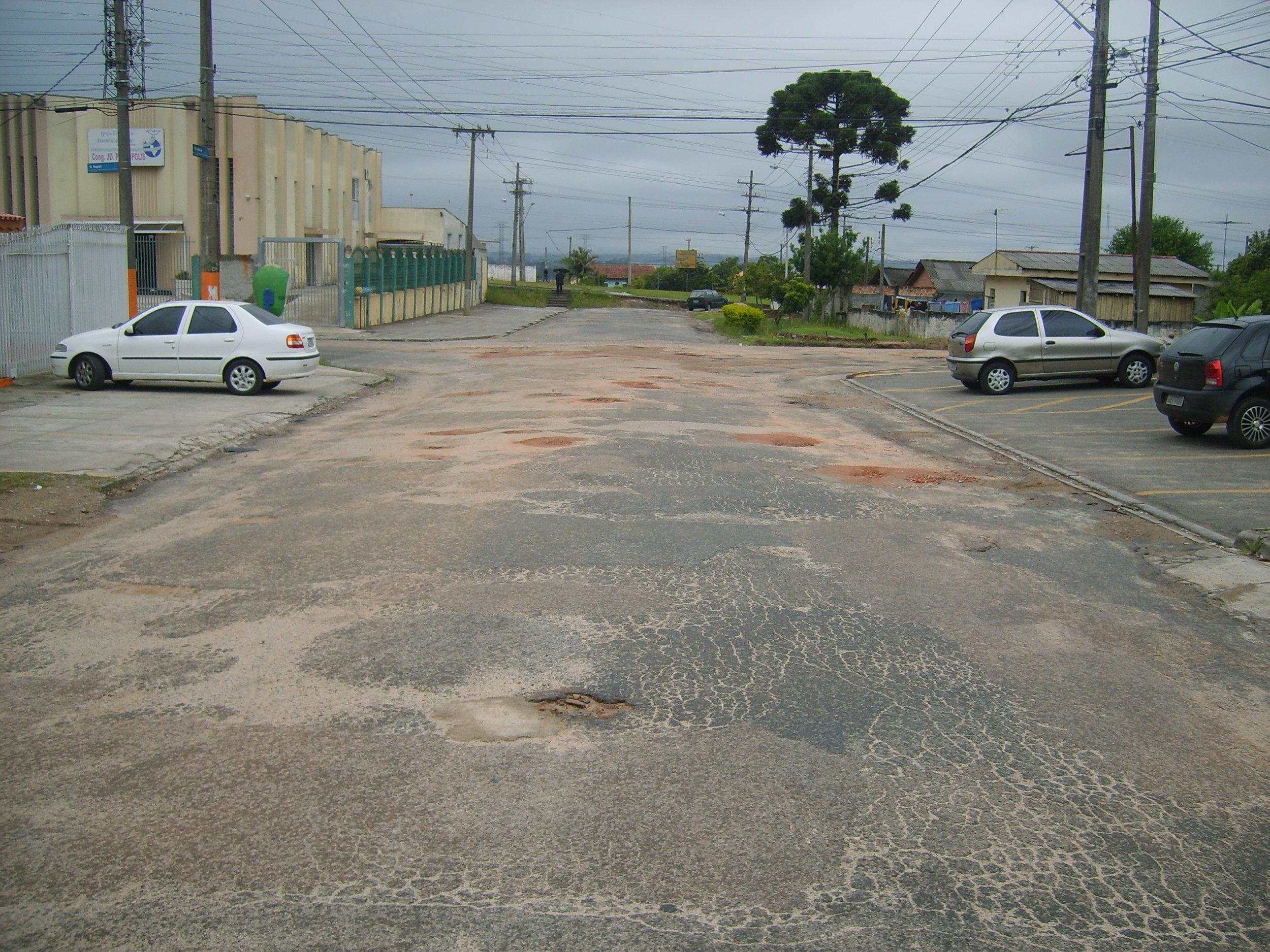 Pavimentação da Rua Cambucá - ANTES