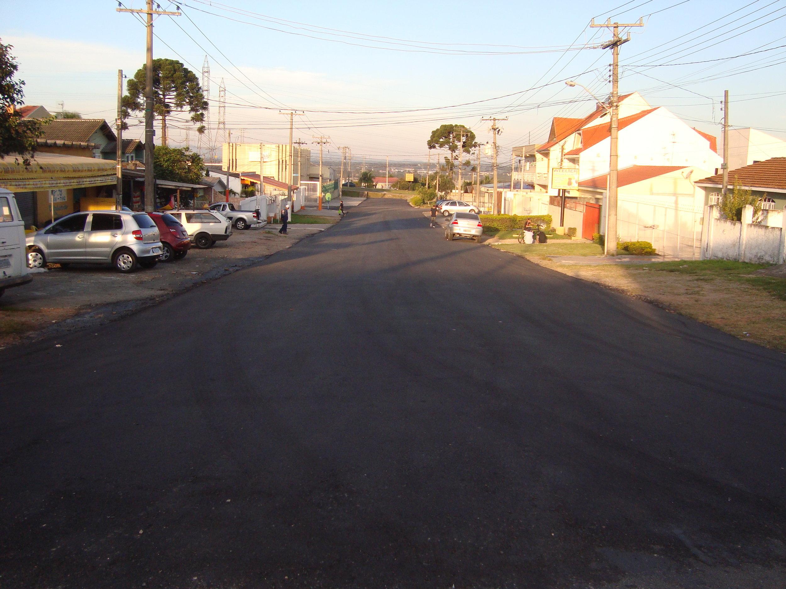 Pavimentação da Rua Cambucá - DEPOIS