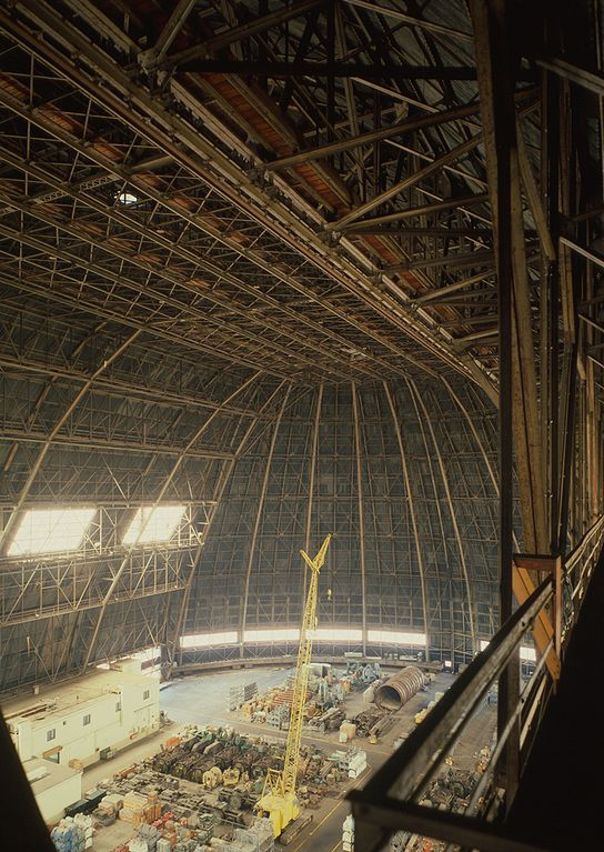 Goodyear Airdock interior, Circ. 1985. Image source:  Goodyear Airdock interior.jpg , licensed under  Public Domain Mark 1.0