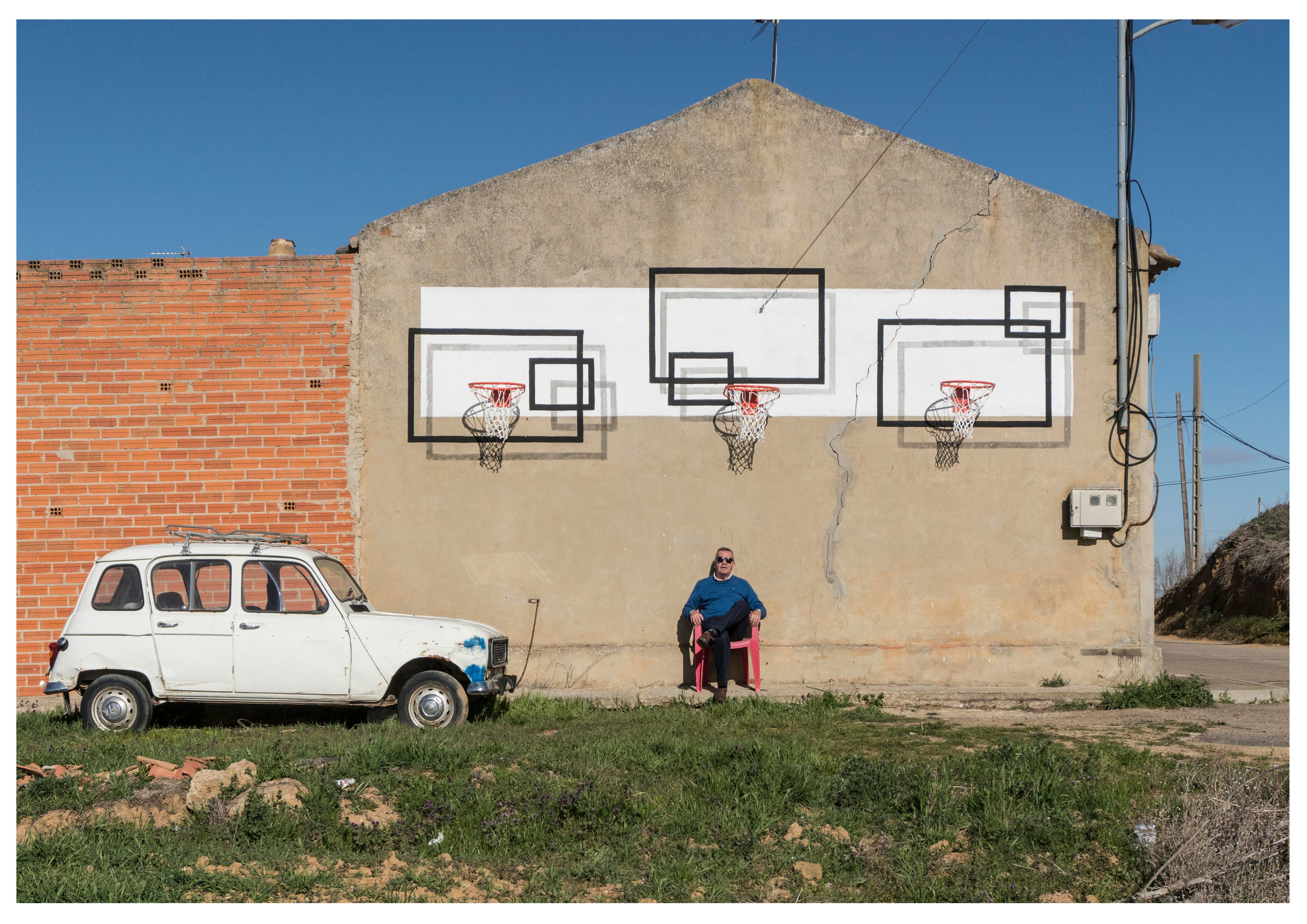 Reimagining basketball backboards.