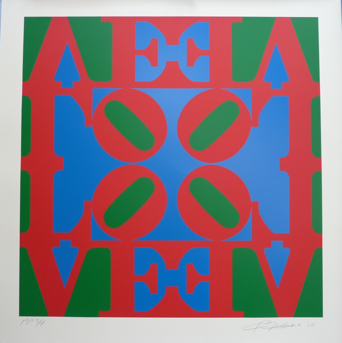 edition print by Robert Indiana titled Love Wall