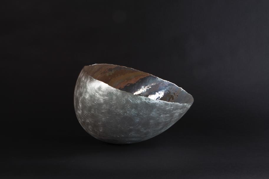 Asymmetric Bowl  made of fine silver by Thalen and Thalen