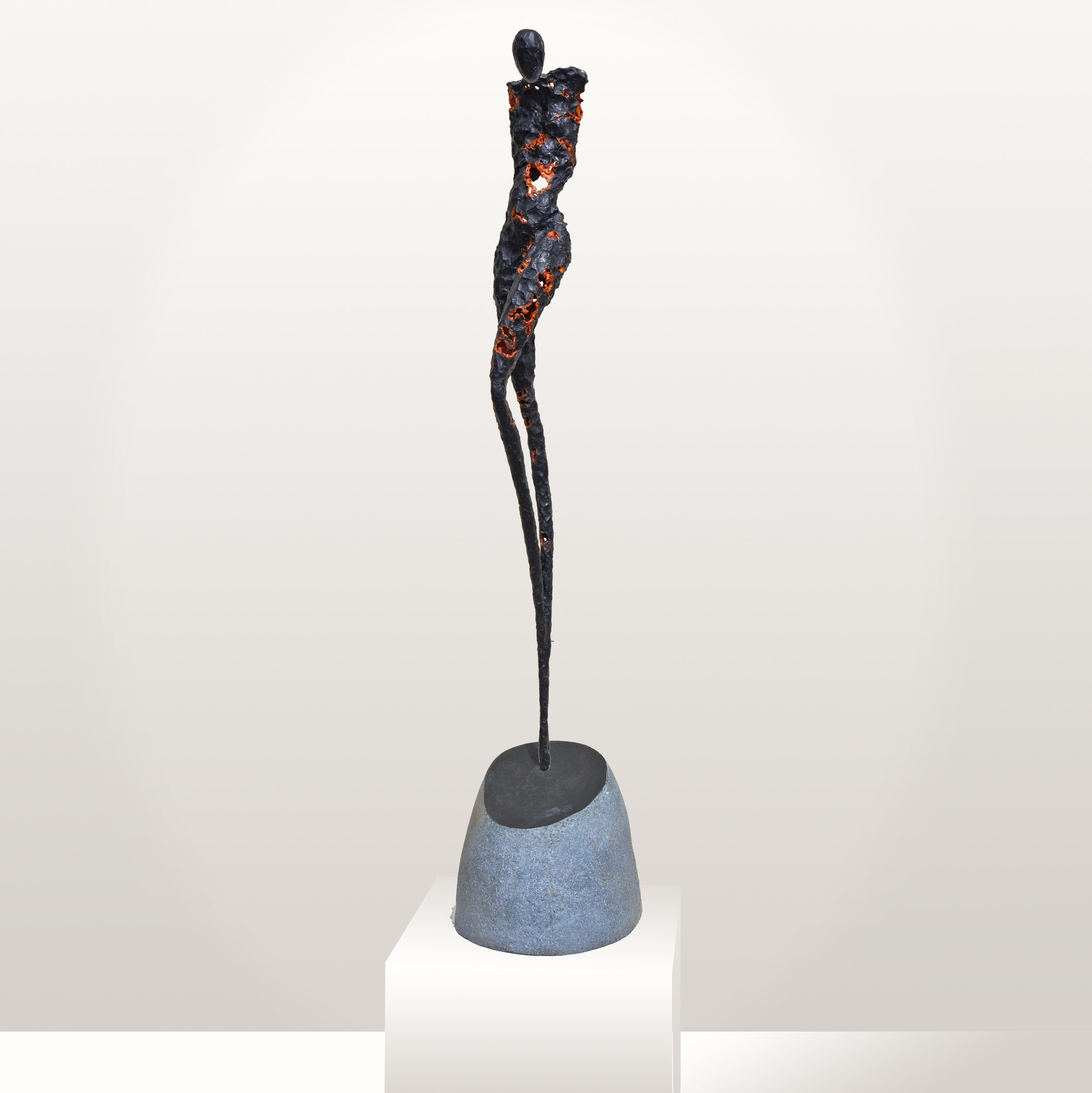 Figurative sculpture made from one-of-a-kind bronze