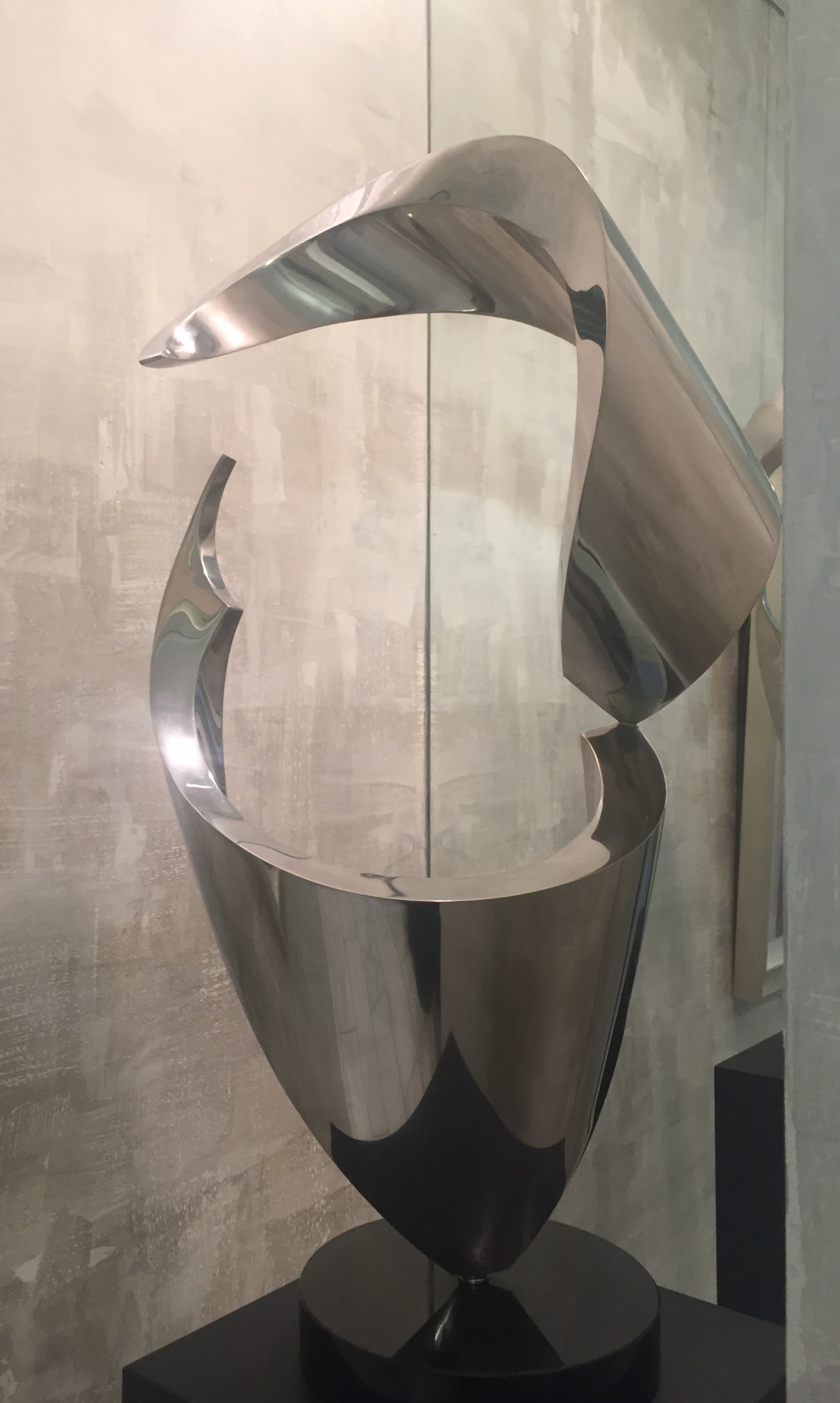 marine grade stainless steel sculpture by gino miles