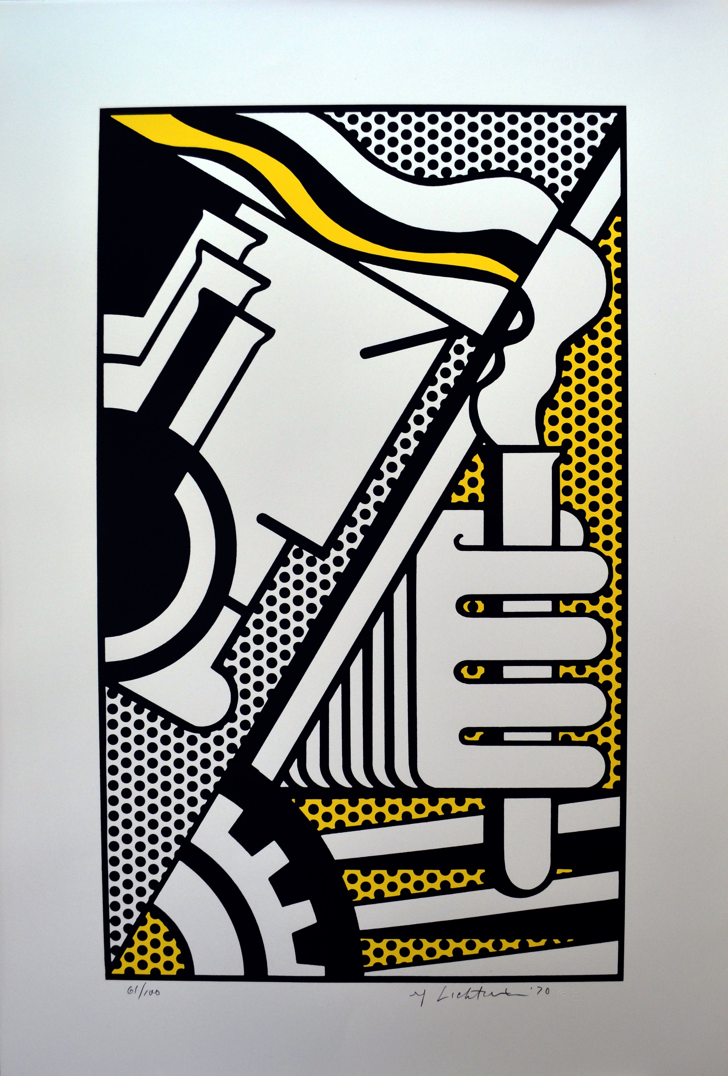 Two-color screenprint titled  Chem 1A  by Roy Lichtenstein