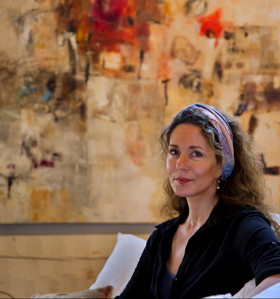 Portrait of abstract painter Tamar Kander