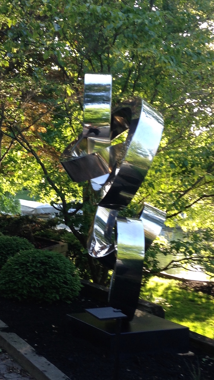 marine grade stainless steel sculpture gino miles titled felicity