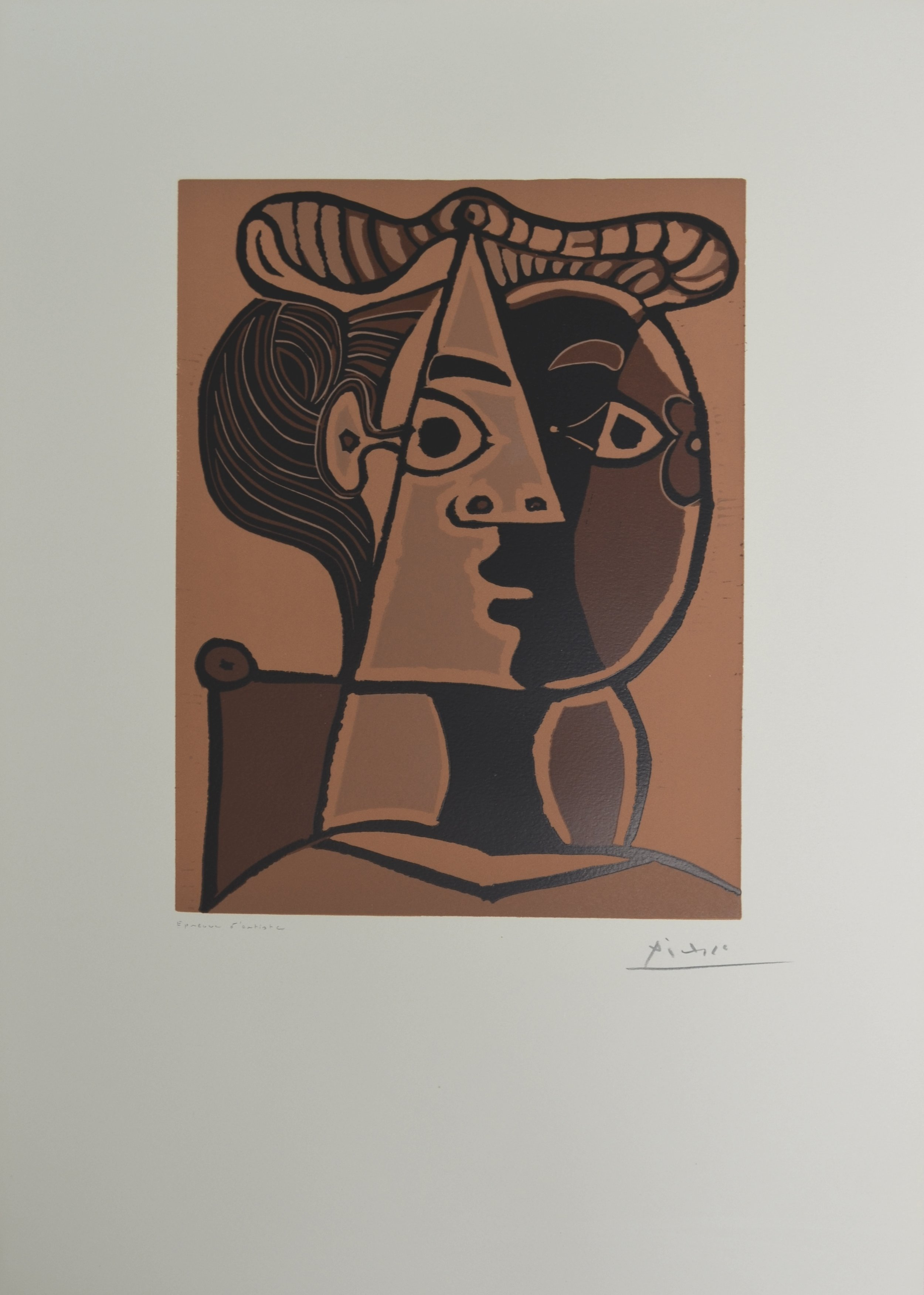 Picasso - FEMME ASSISE AU CHIGNON