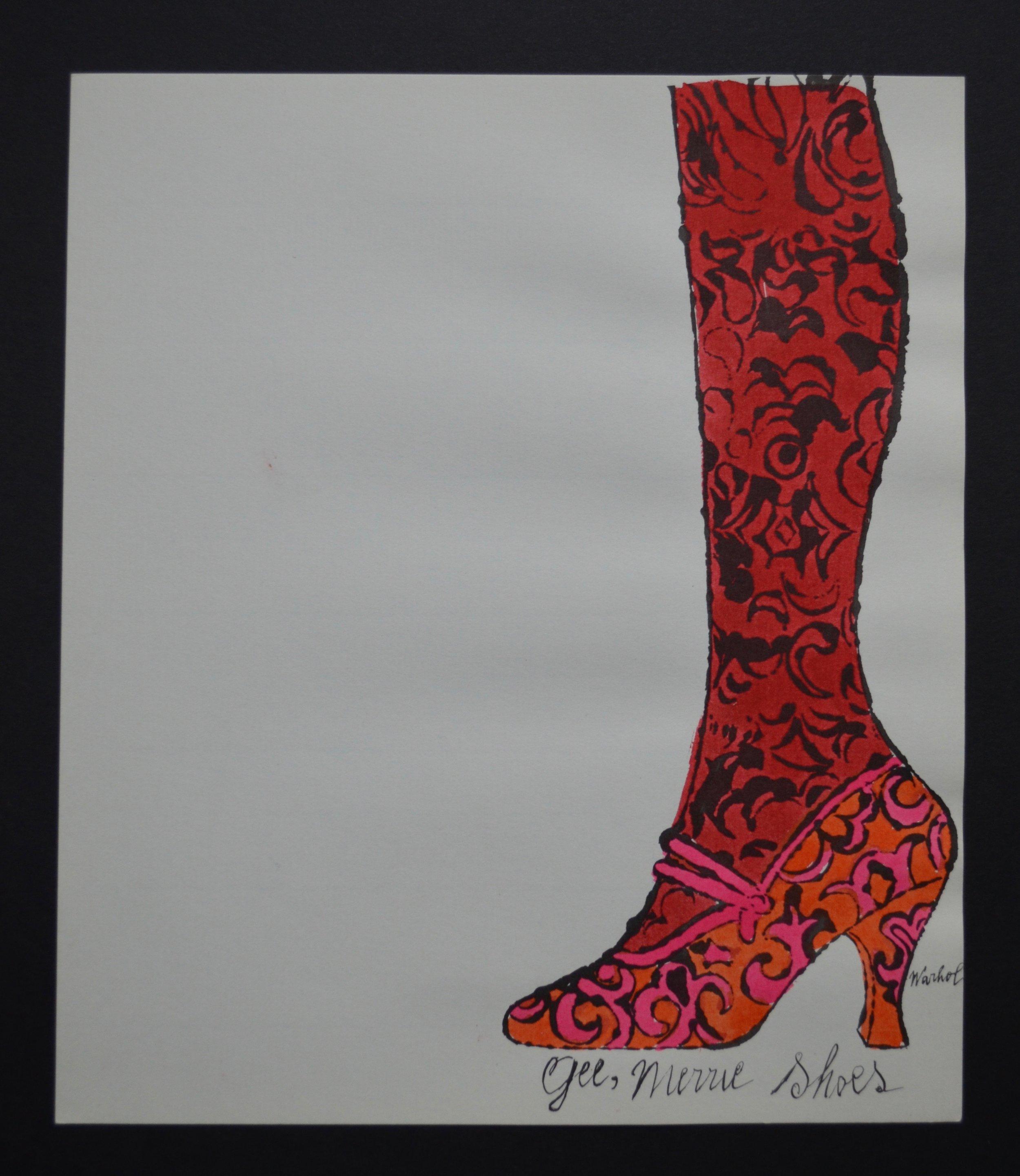 Andy Warhol - Gee Merrie Shoe