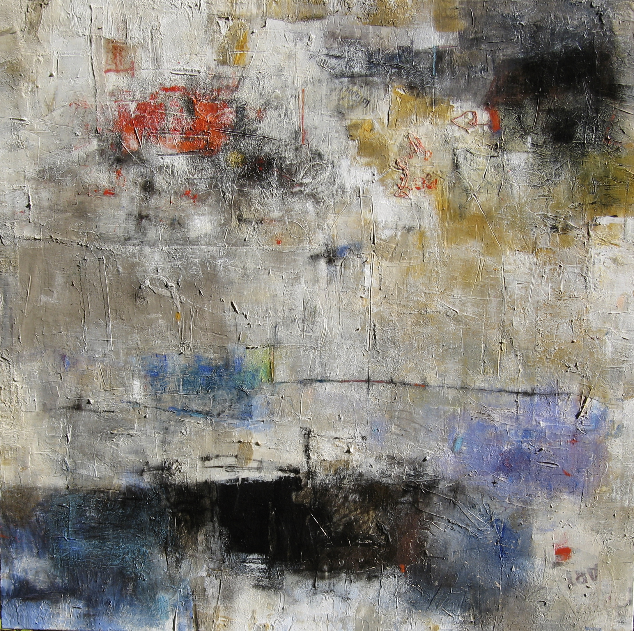 mixed media on canvas by tamar kander, Impending
