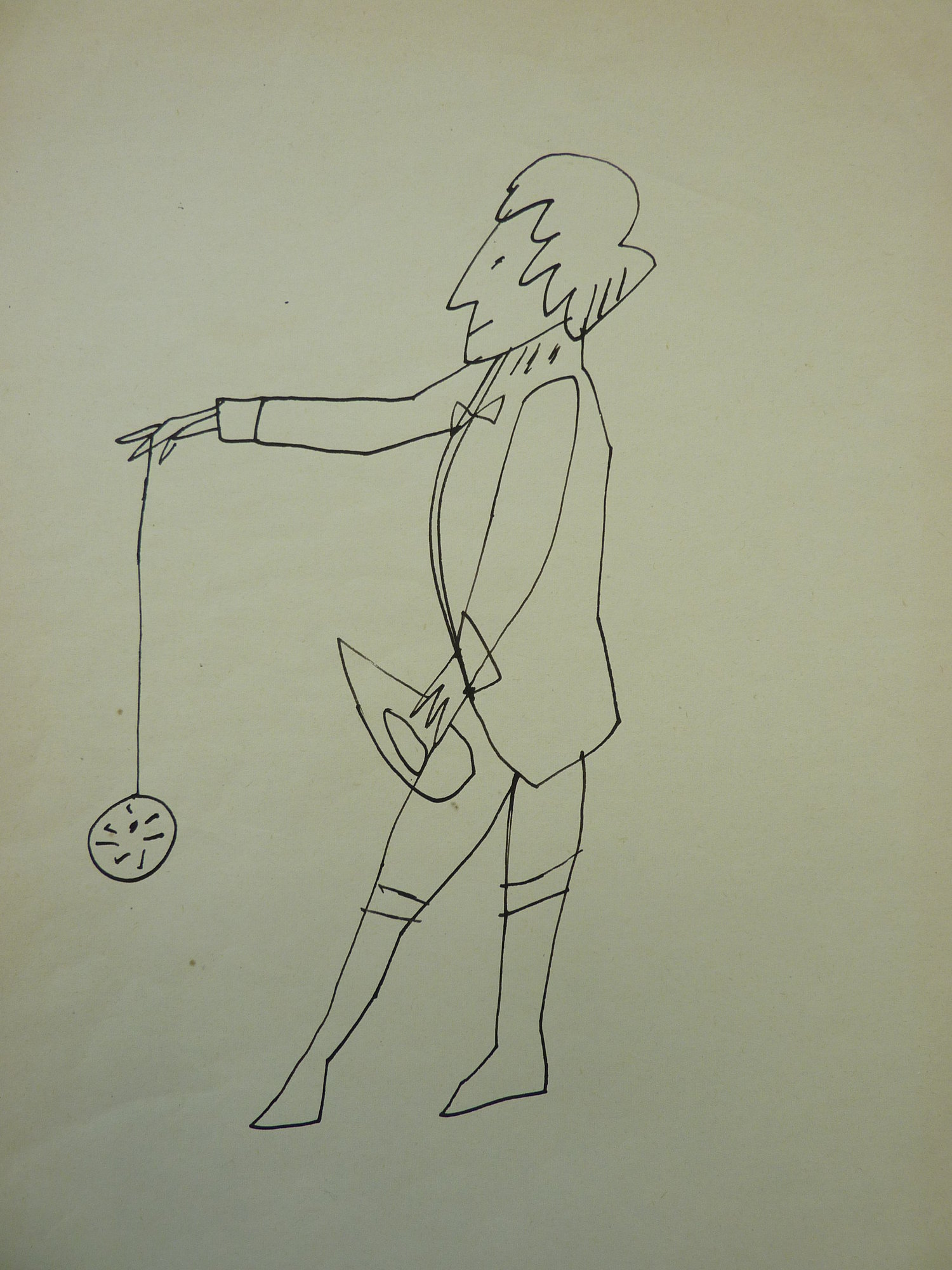 Andy Warhol work on paper of Standing Man with Yo-Yo