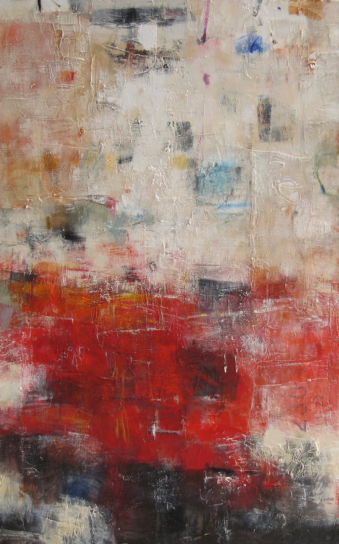 mixed media on canvas by tamar kander, Inner Space