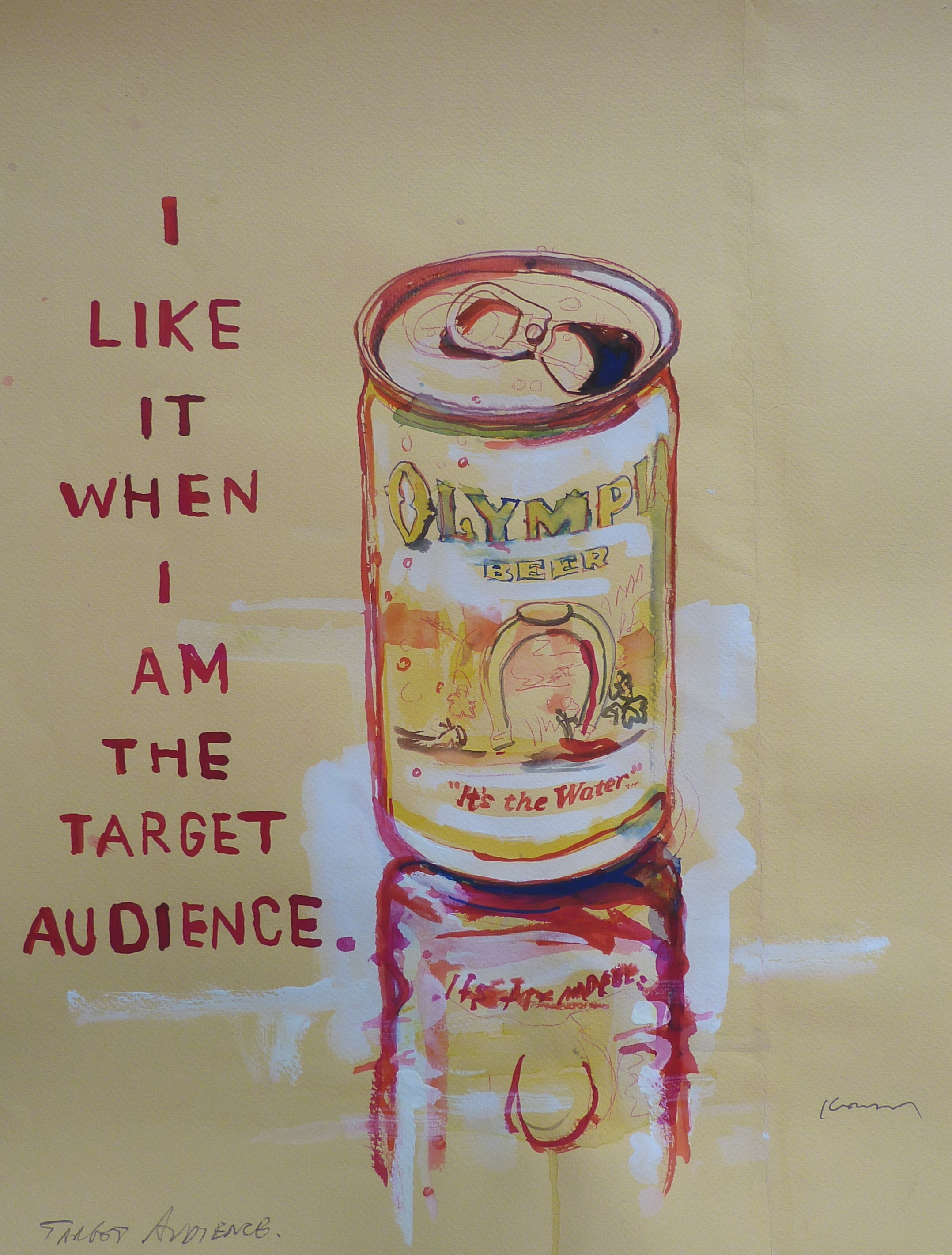 ink on paper, Target Audience by David Kramer