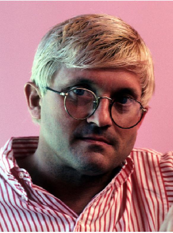 Portrait of artist David Hockney