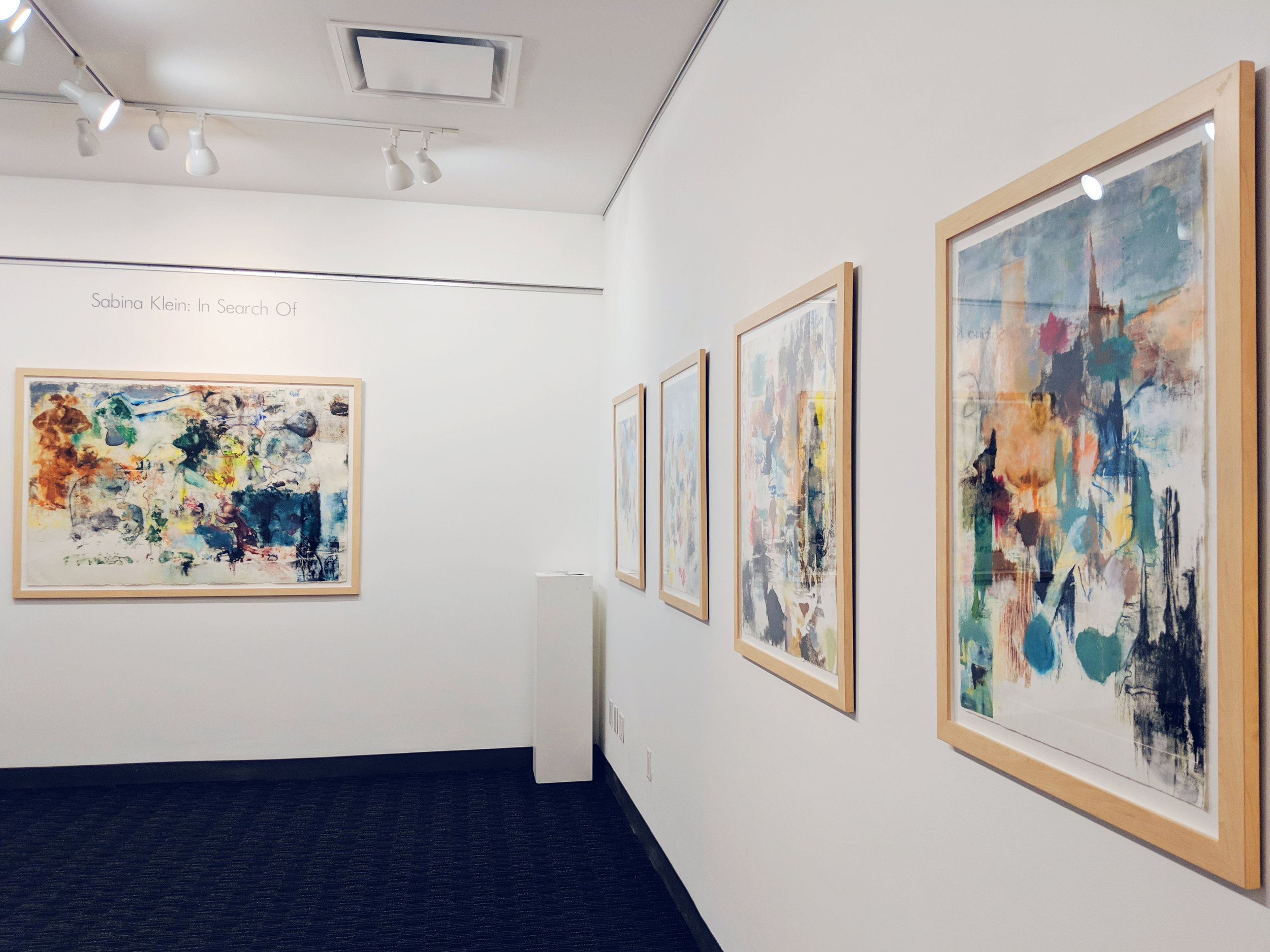 paintings on paper by Sabina Klein in Long-Sharp Gallery Project Space, New York