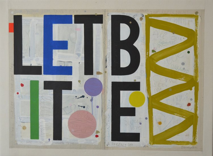 let it be — all of our dreams by david spiller; acrylic and pencil on stitched canvas