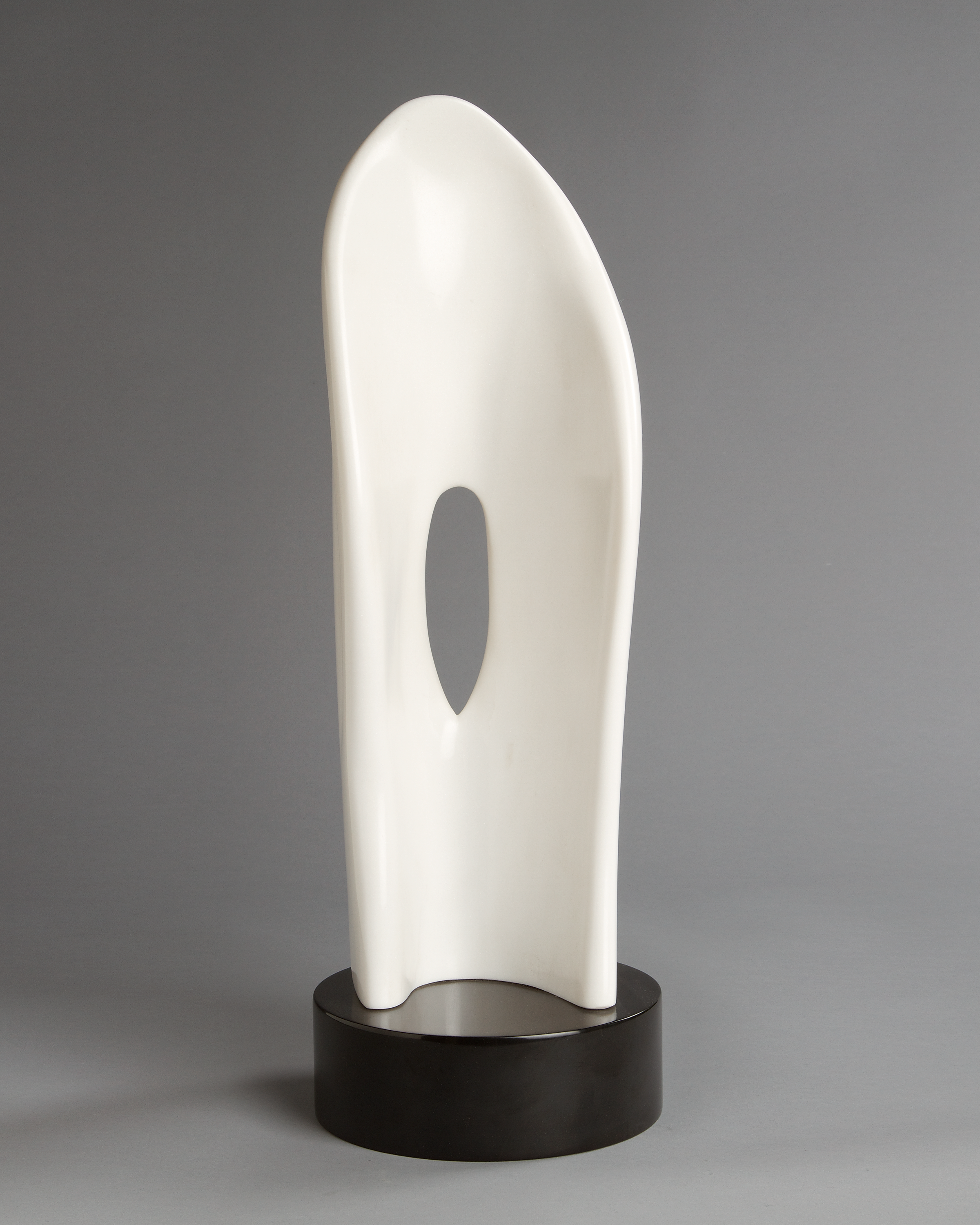 white marble sculpture by charlie kaplan