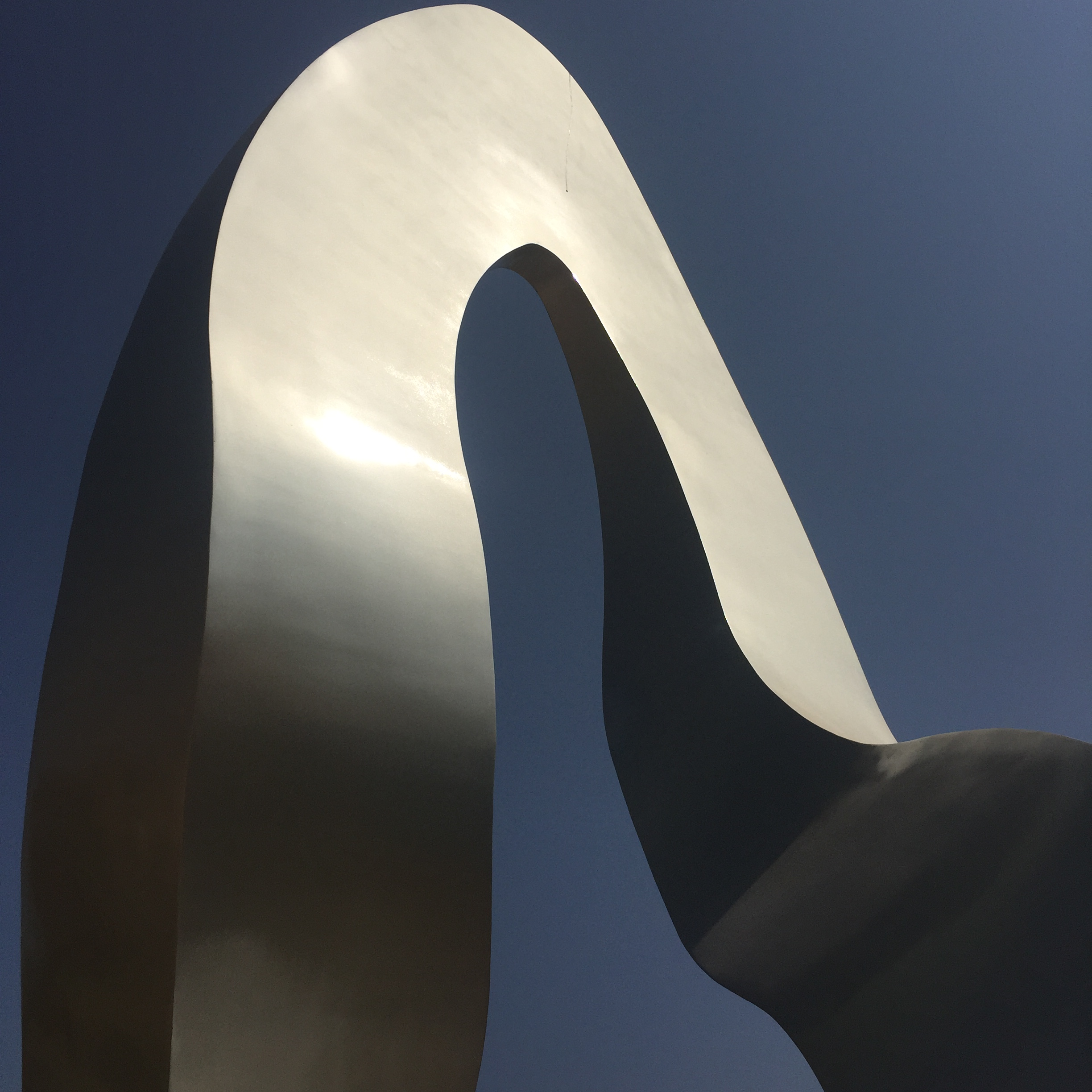 large scale steel sculpture by tarik currmbhoy detail image