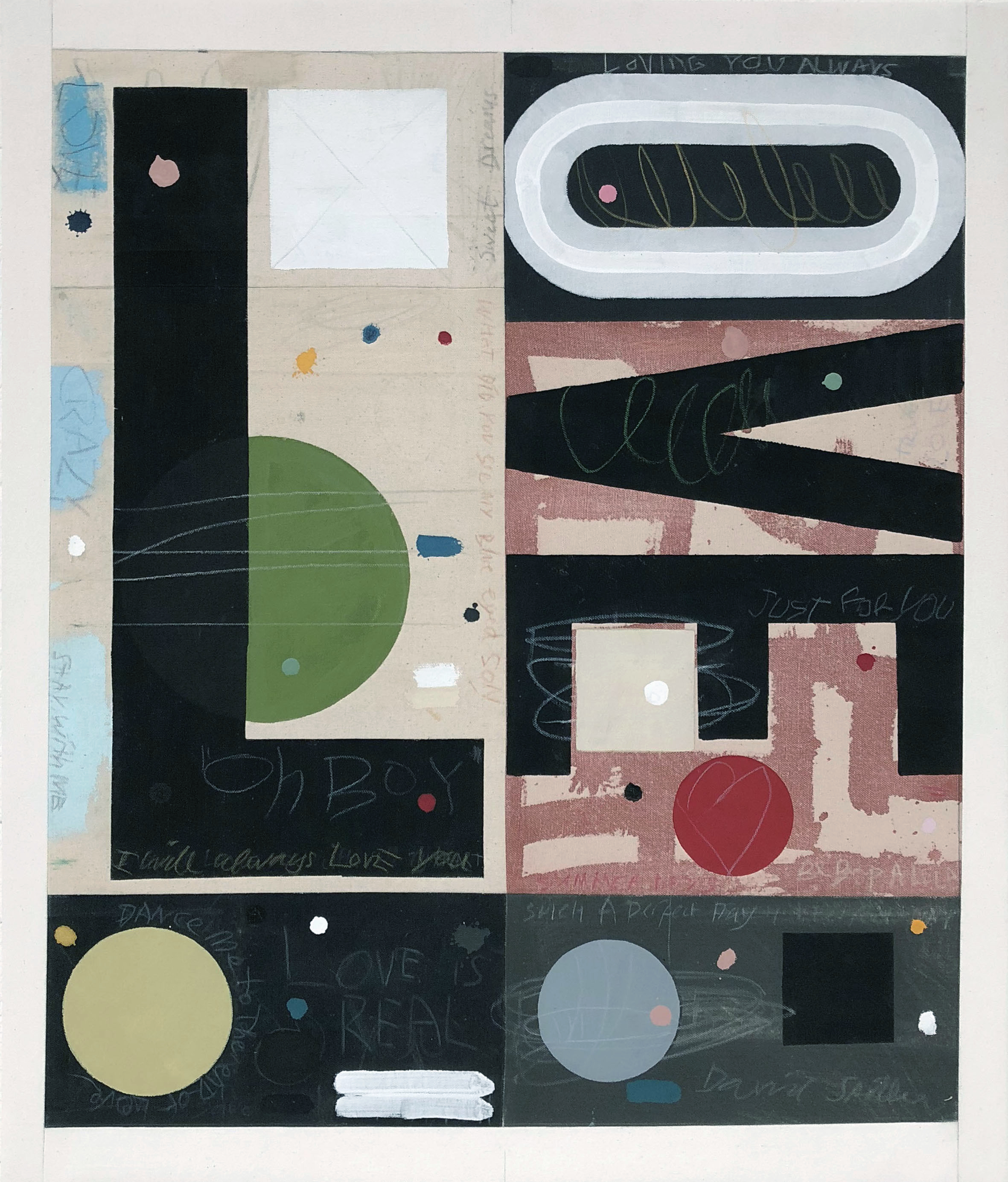 dance me to the end of love by david spiller on stitched canvas panels