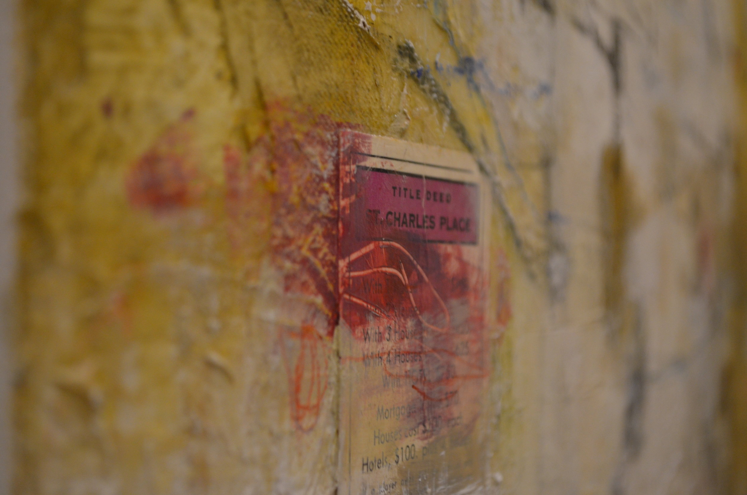 mixed media on canvas by tamar kander, door, texture close up images