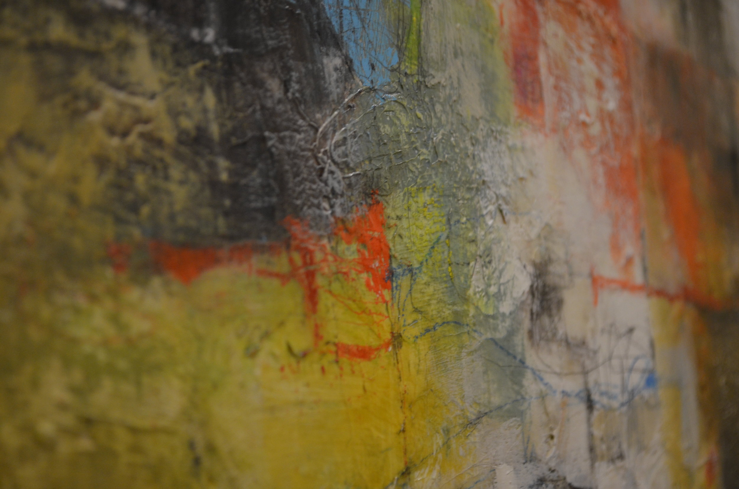 mixed media on canvas by tamar kander, door, additional images showing texture