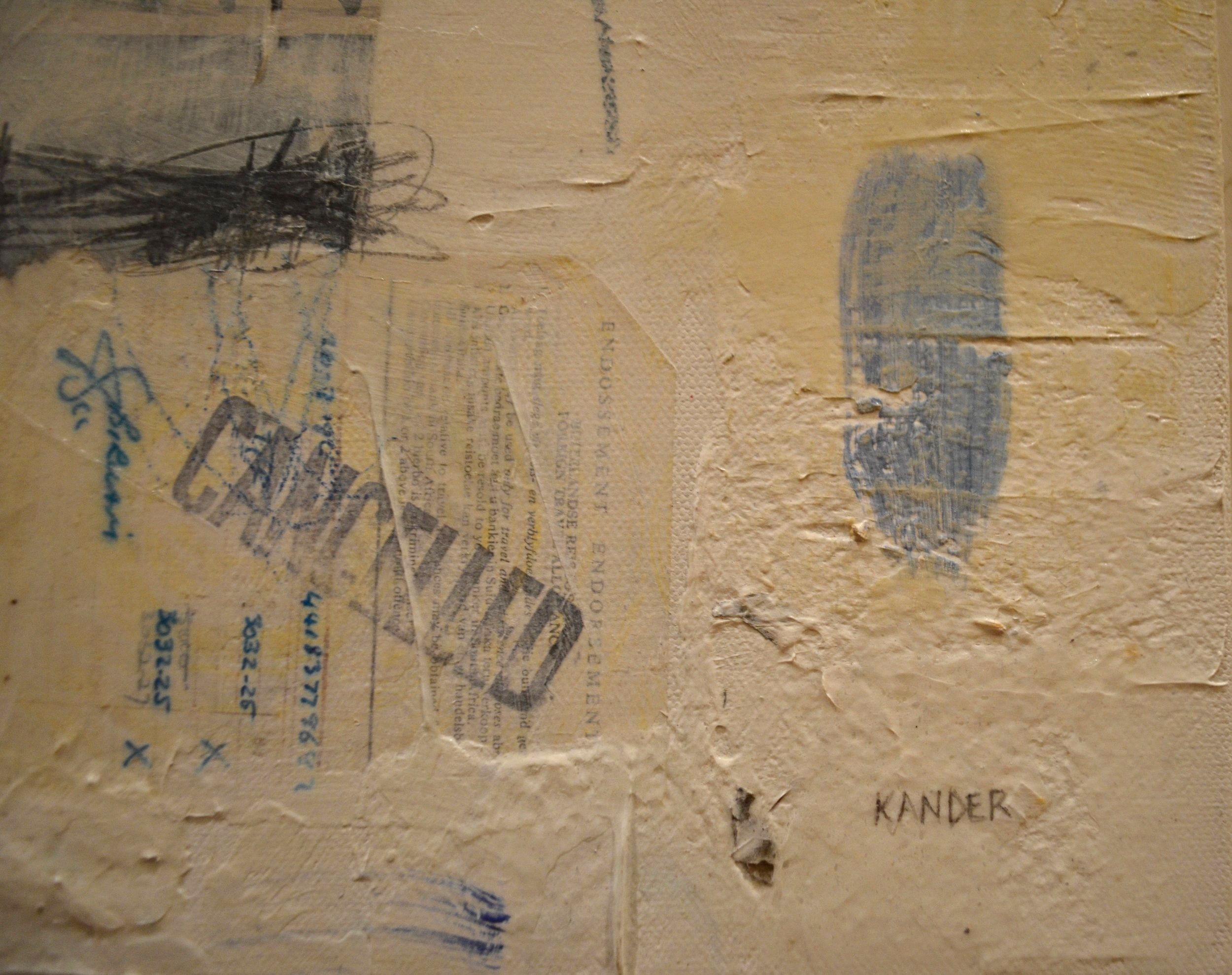 mixed media on canvas by tamar kander, human touch, texture close up images