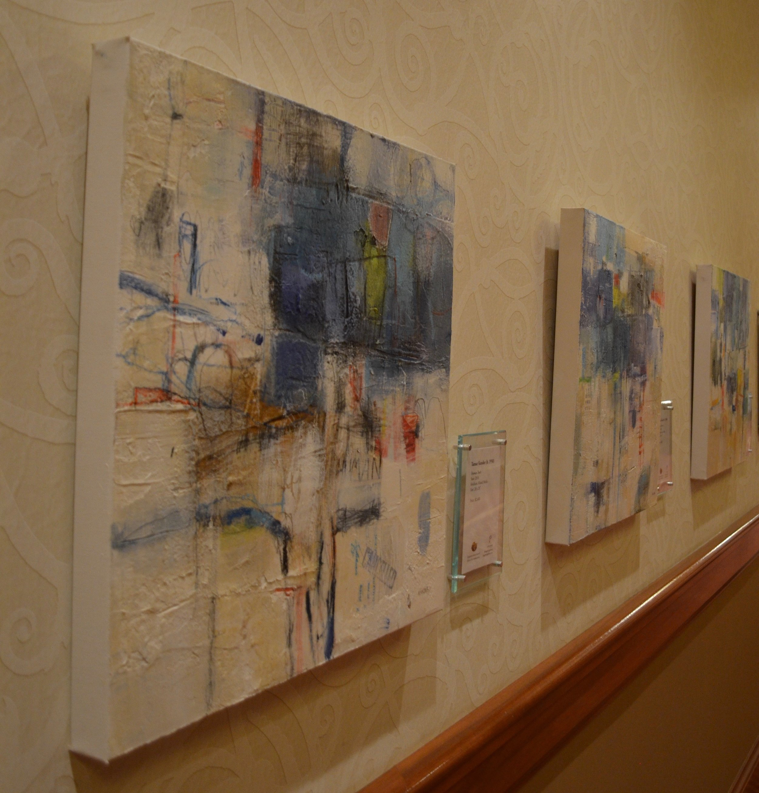 mixed media on canvas by tamar kander, human touch, additional install images