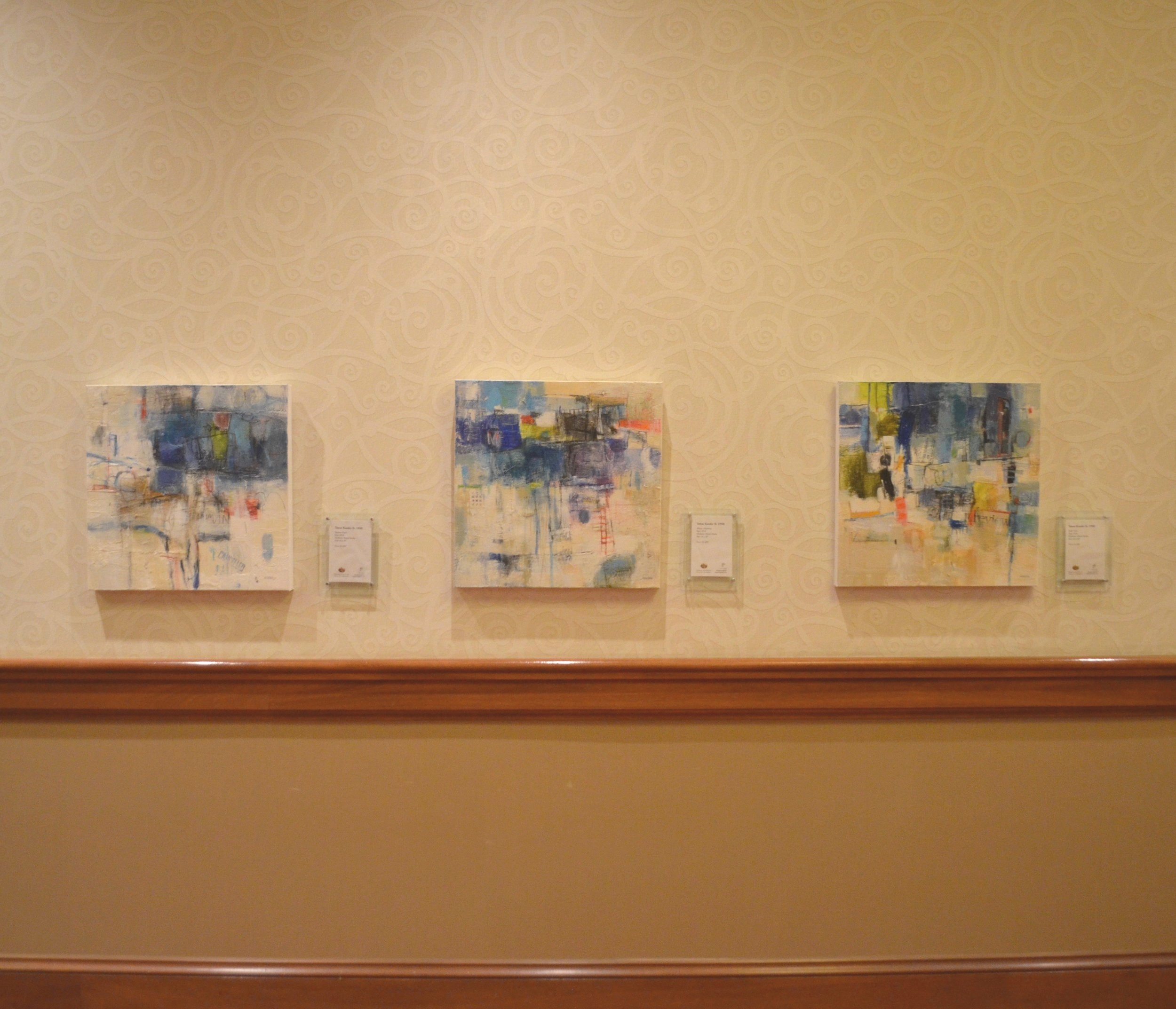 mixed media on canvas by tamar kander, human touch, additional images