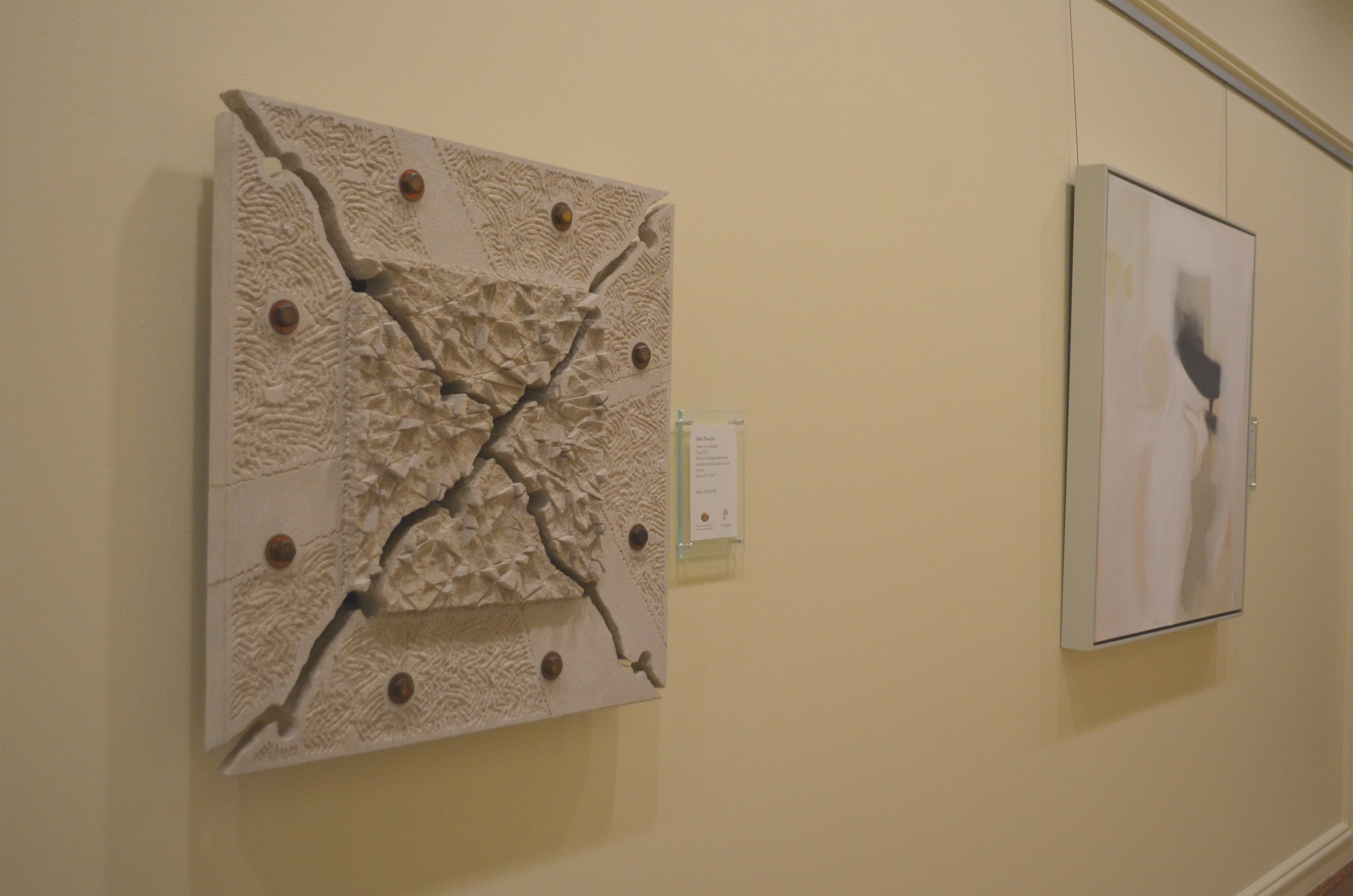 photo of center of a mandala by dale encohs with amy kirchner's white square