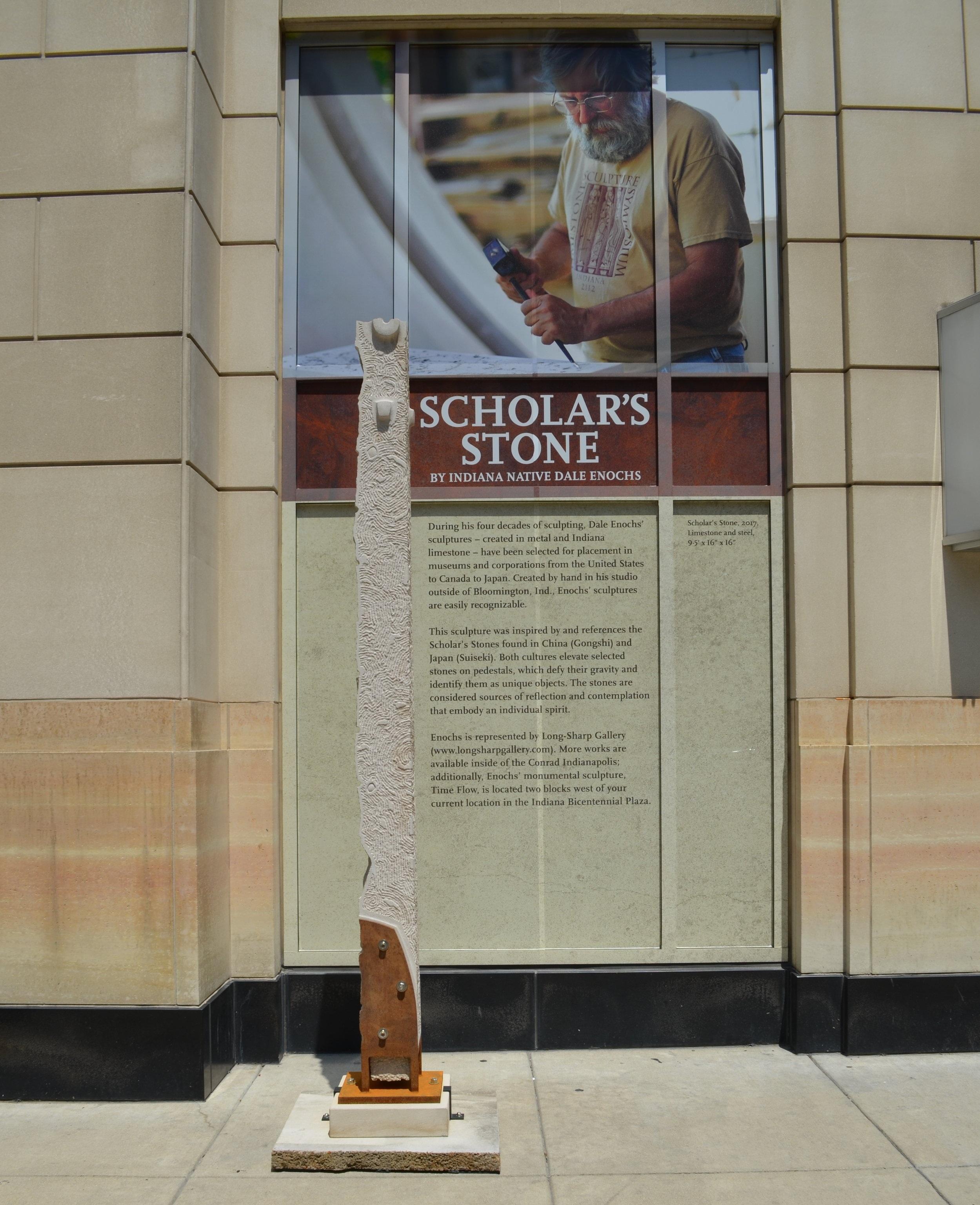 install shot of dale enochs' scholar stone at conrad indianapolis