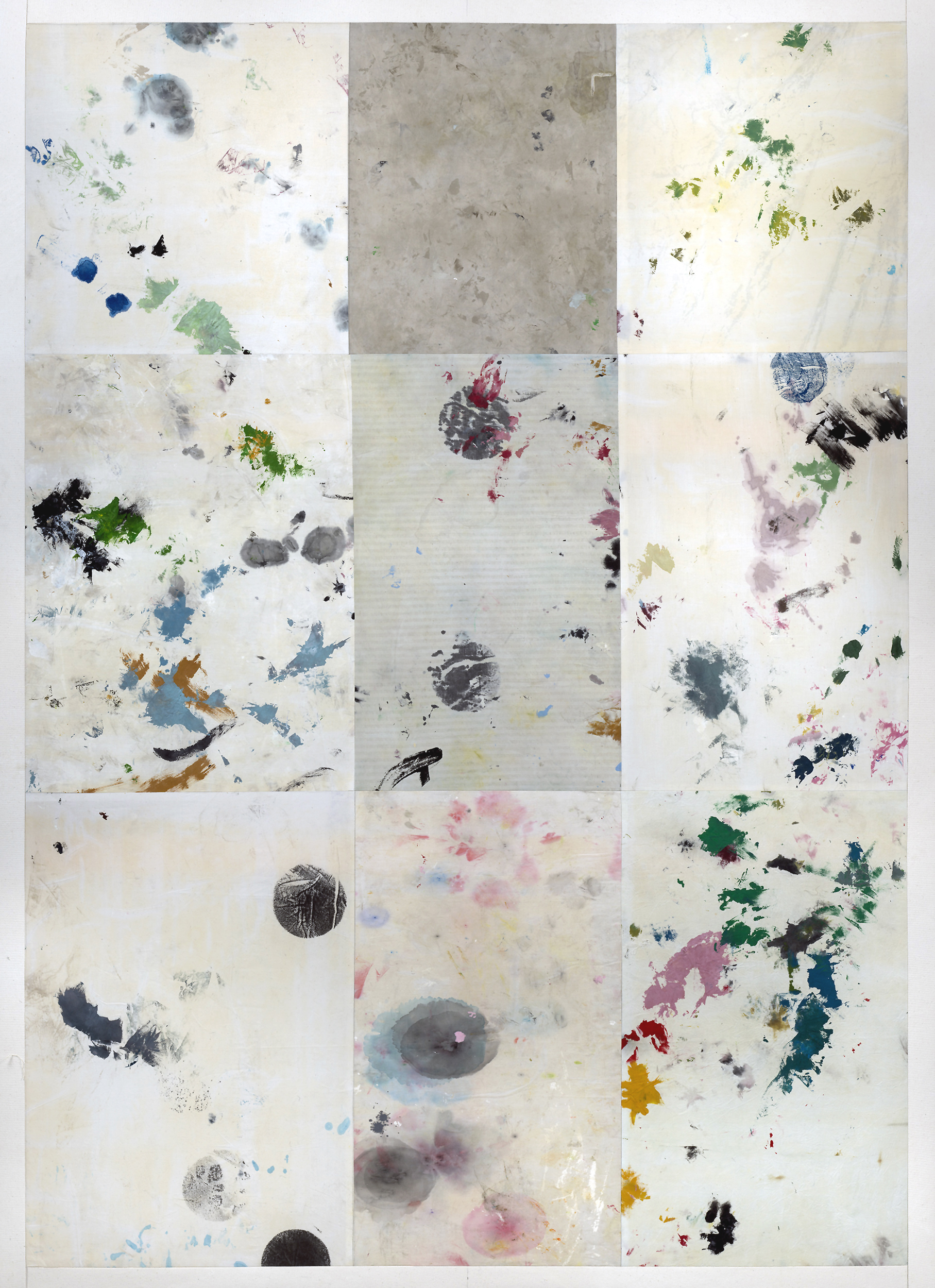 acrylic on cotton rag abstract work by spiller + cameron