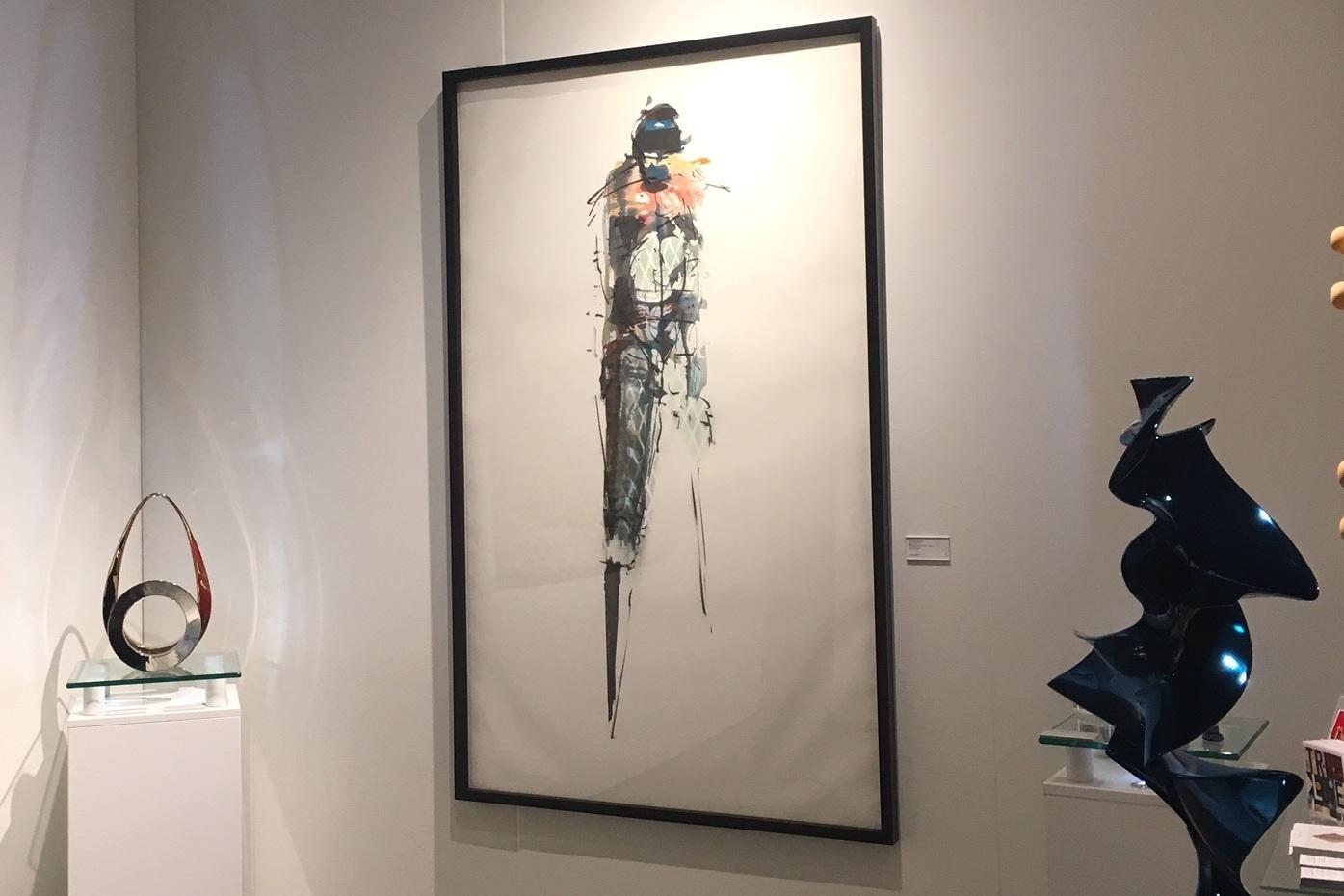 install photo at seattle art fair featuring jason myers, tarik currimbhoy and syvlestre gauvrit's works
