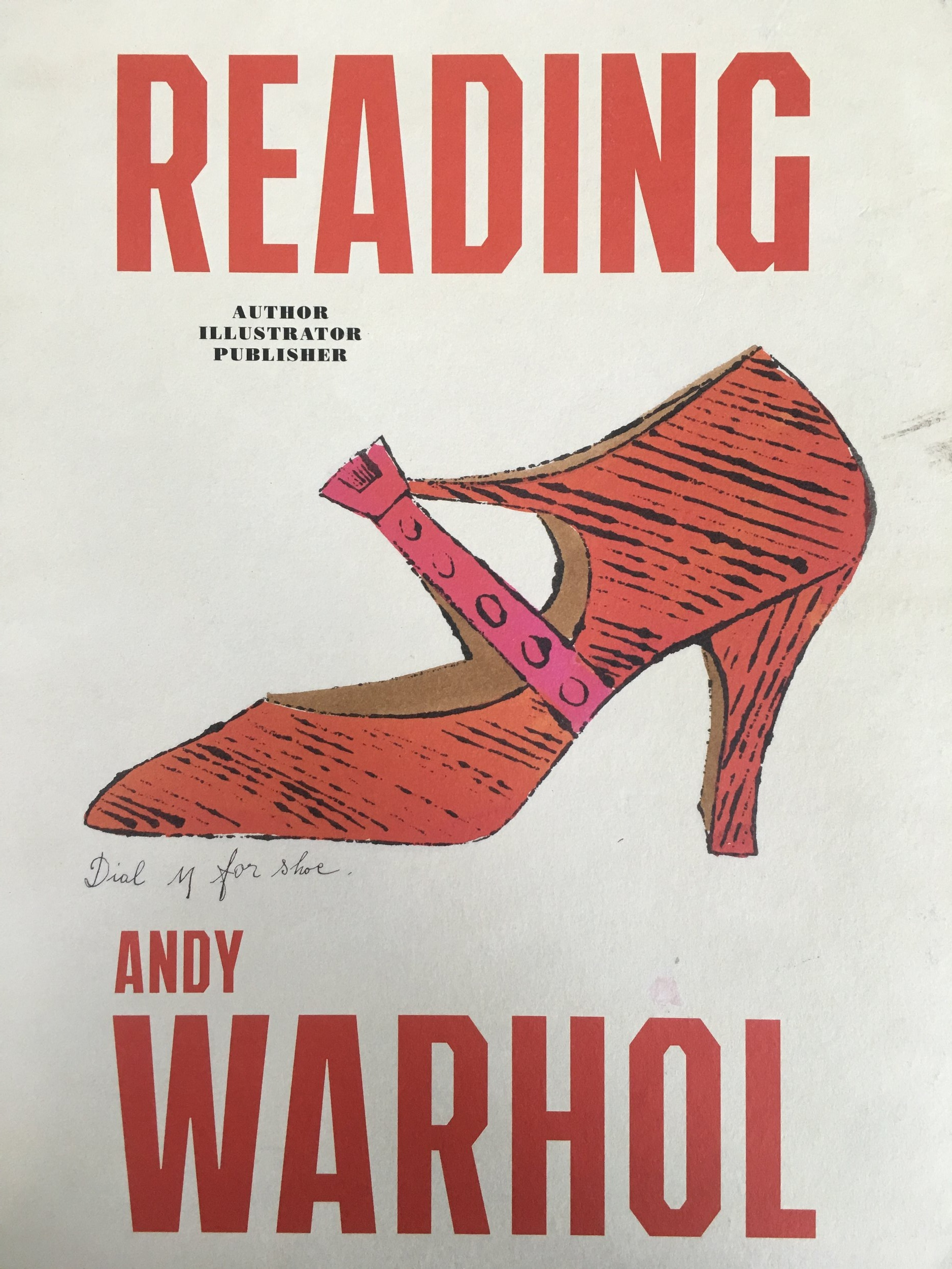 cover of  Reading Andy Warhol